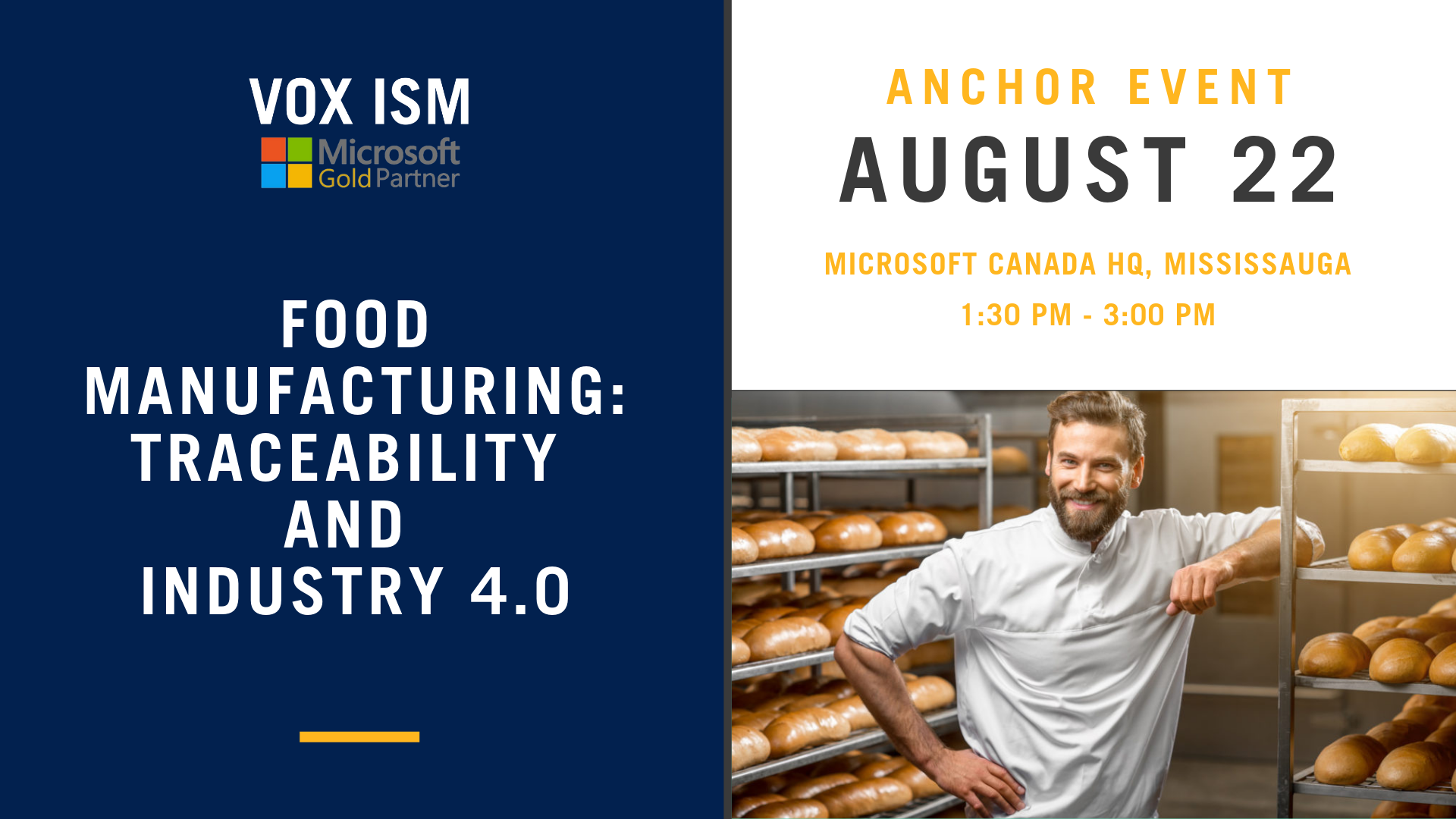 Food Manufacturing: Traceability and Industry 4.0 - August 22 - Anchor Event - VOX ISM