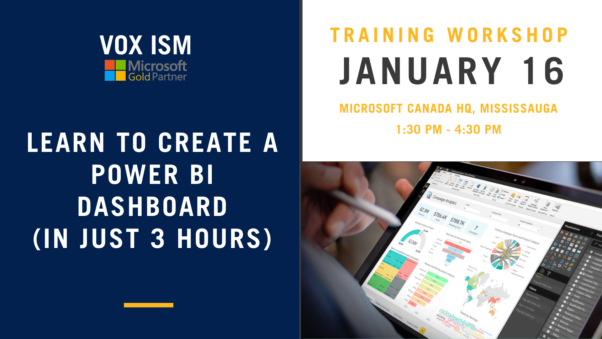 Learn to create Power BI Dashboards - VOX ISM Event