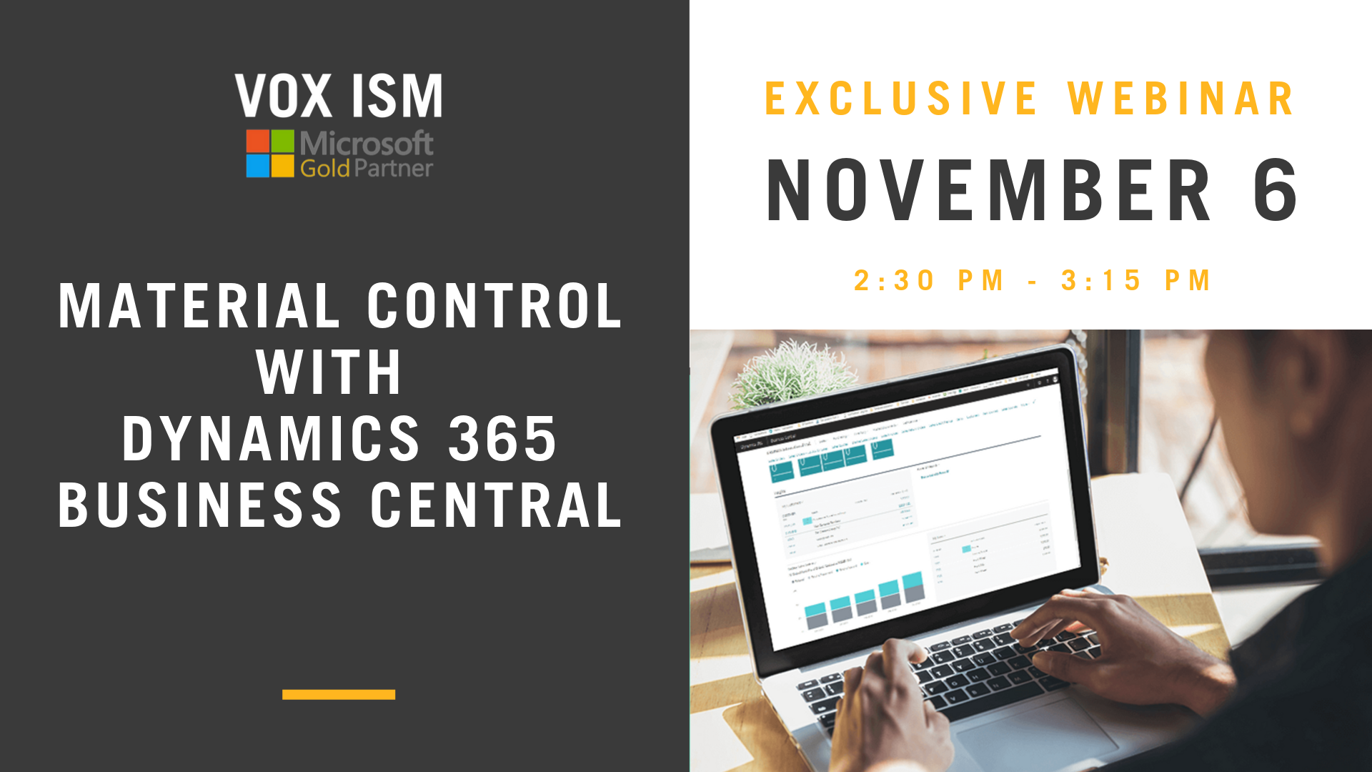 Material Control with Dynamics 365 Business Central – November 6 – Webinar