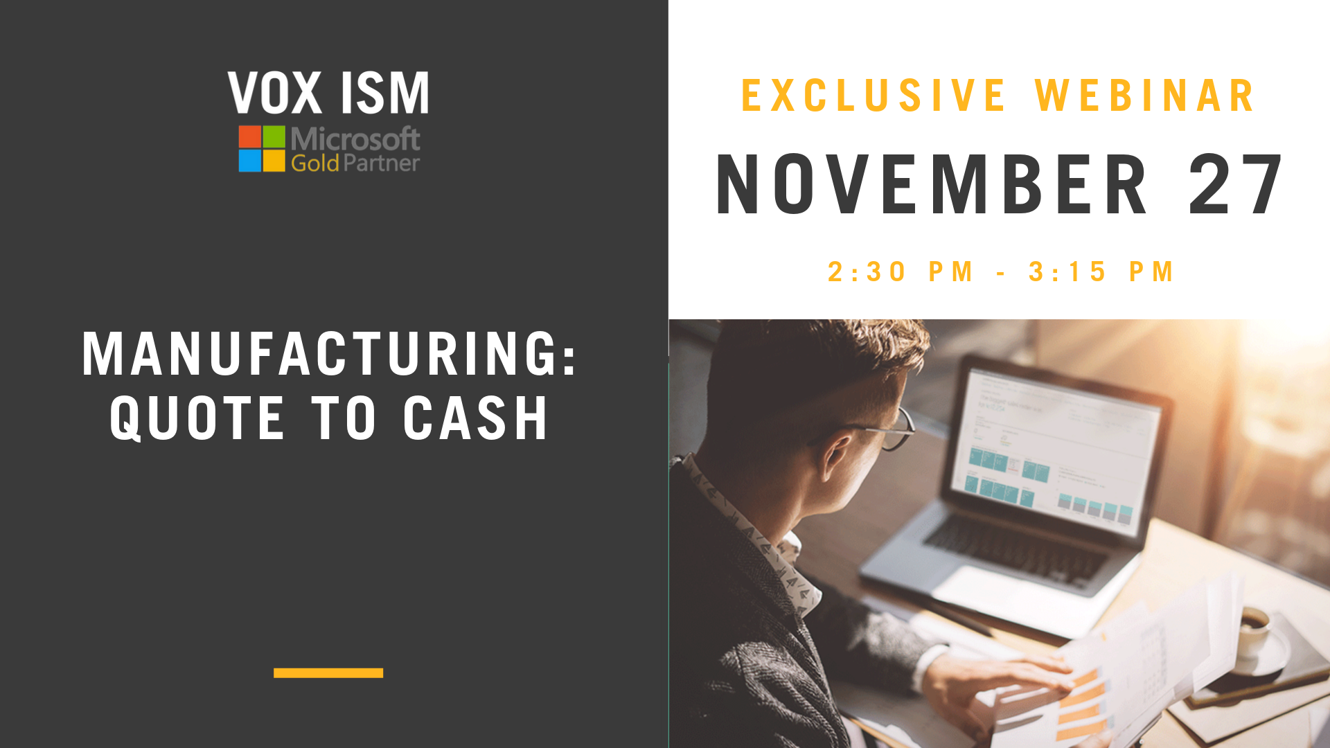 Manufacturing: Quote to Cash – November 27 – Webinar