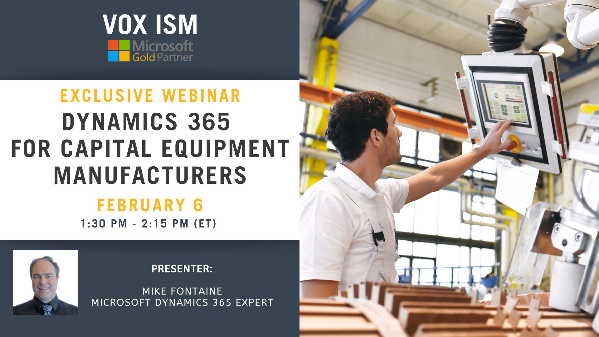 Dynamics 365 for Capital Equipment Manufacturers_VOX ISM