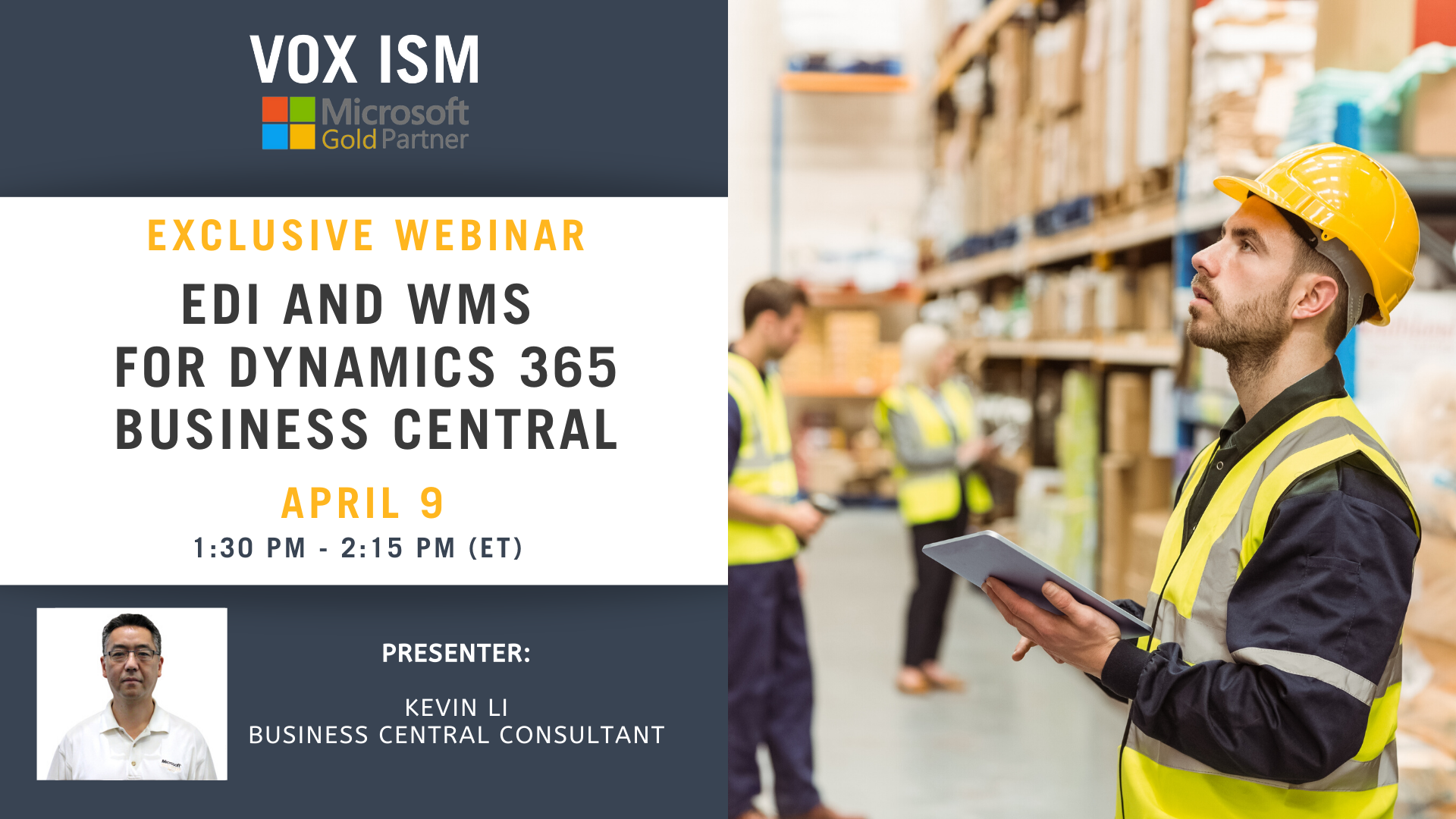 EDI and WMS for Dynamics 365 Business Central_VOX ISM