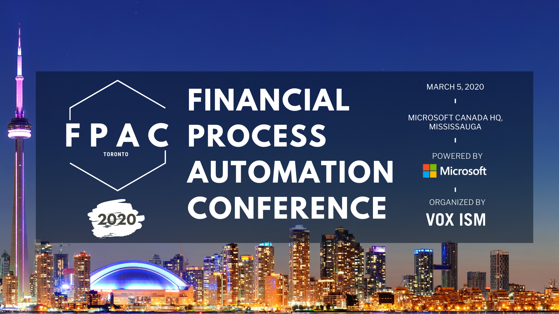 Financial Process Automation Conference 2020_VOX ISM