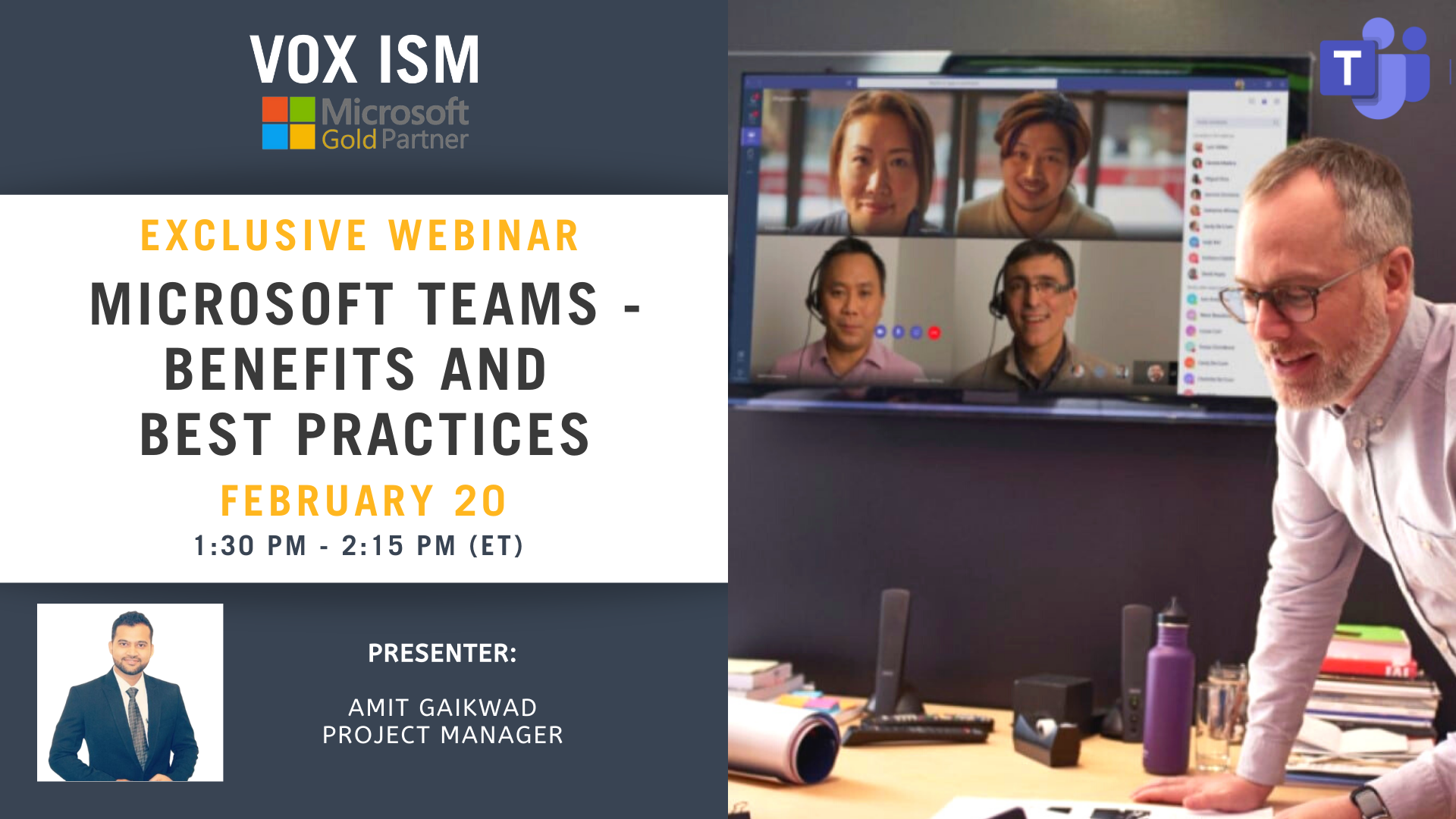Microsoft Teams - Benefits and Best Practices - February 20 - Webinar