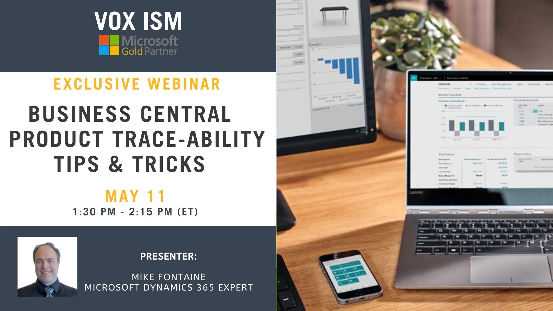 Business Central - Product Traceability Tips & Tricks - May 11 - Webinar VOX ISM