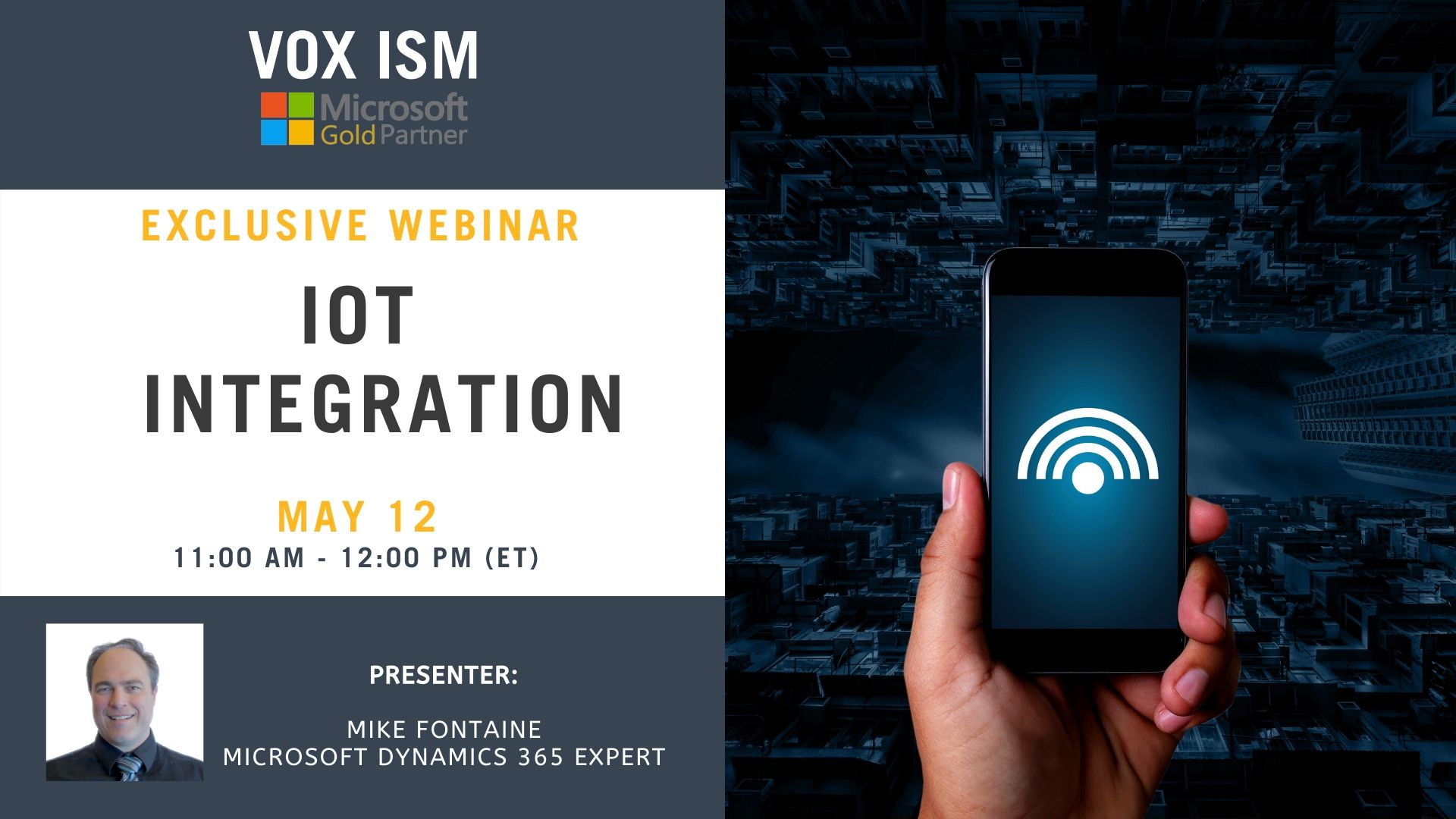 IOT Integration - May 12 - Webinar VOX ISM