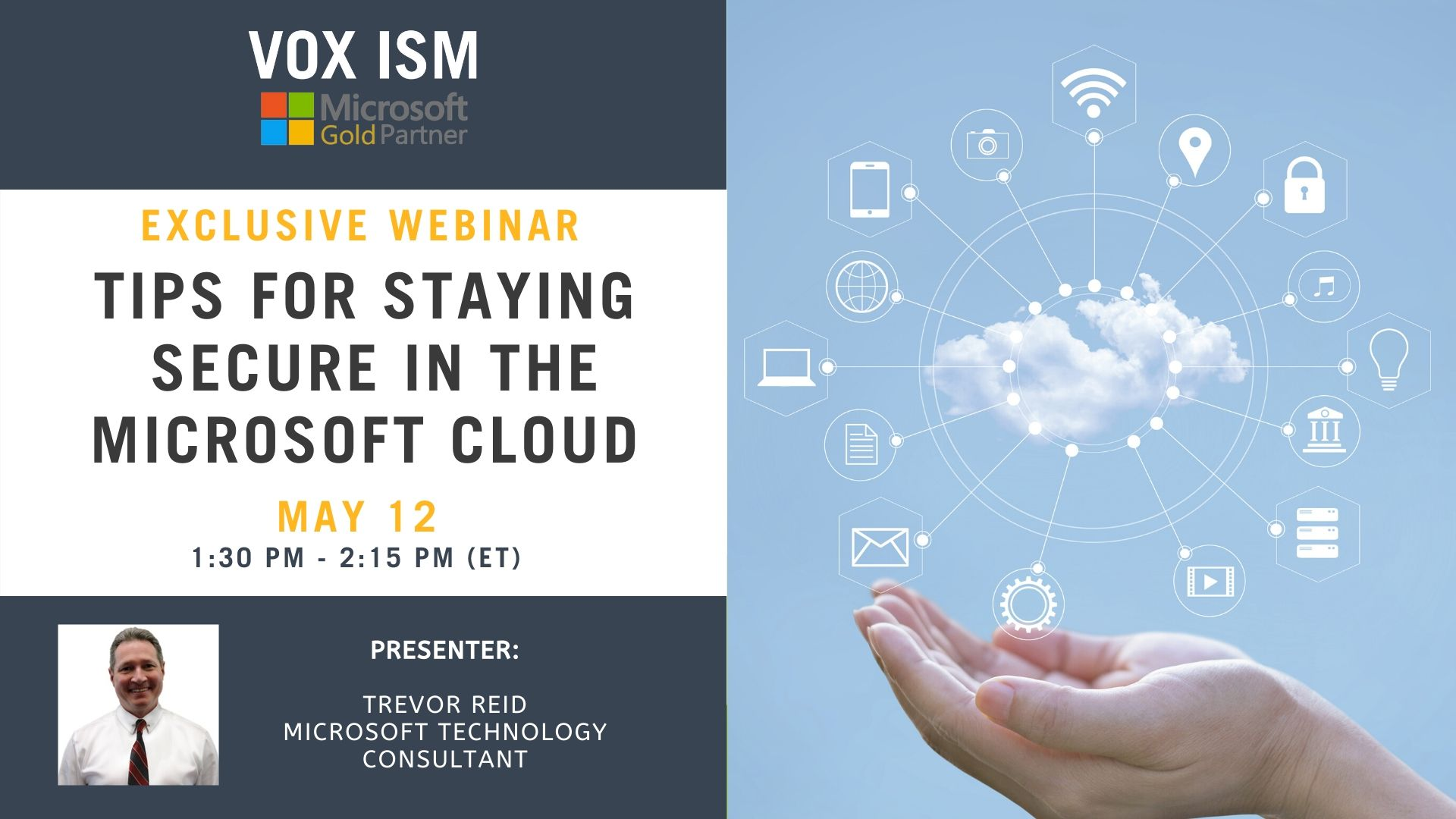 Tips for Staying Secure in the Microsoft Cloud - May 12 - Webinar VOX ISM
