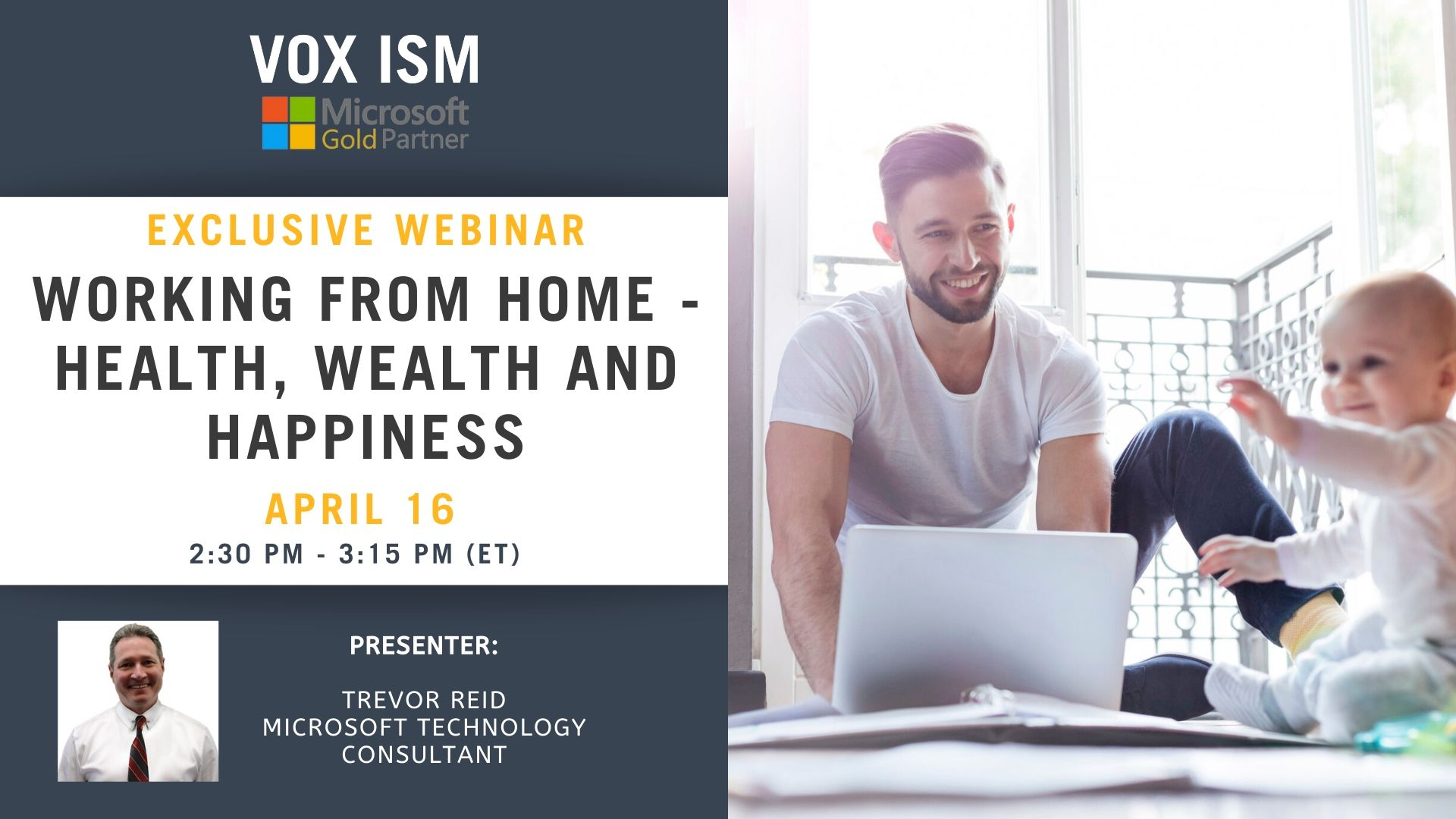 Working from Home - Health, Wealth and Happiness - April 16 - Webinar_VOX ISM