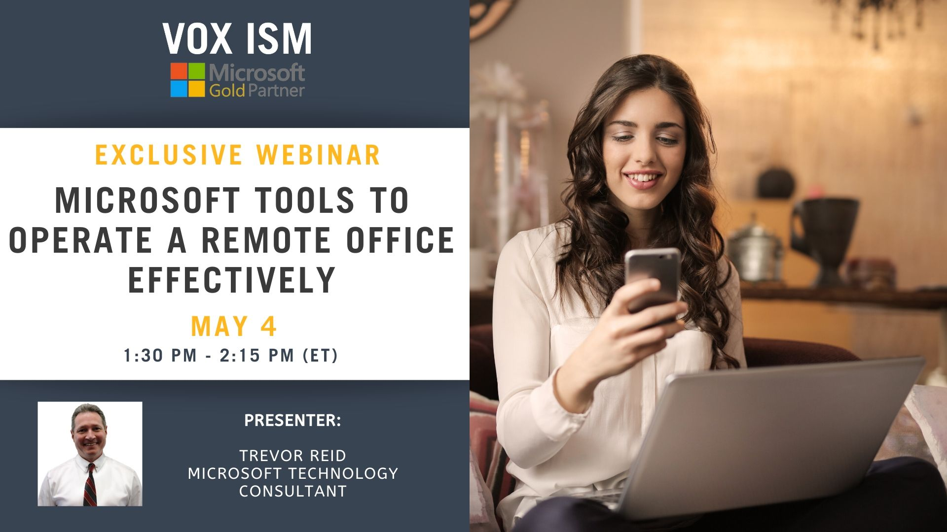 Microsoft Tools to Operate a Remote Office Effectively - May 4 - Webinar_VOX ISM