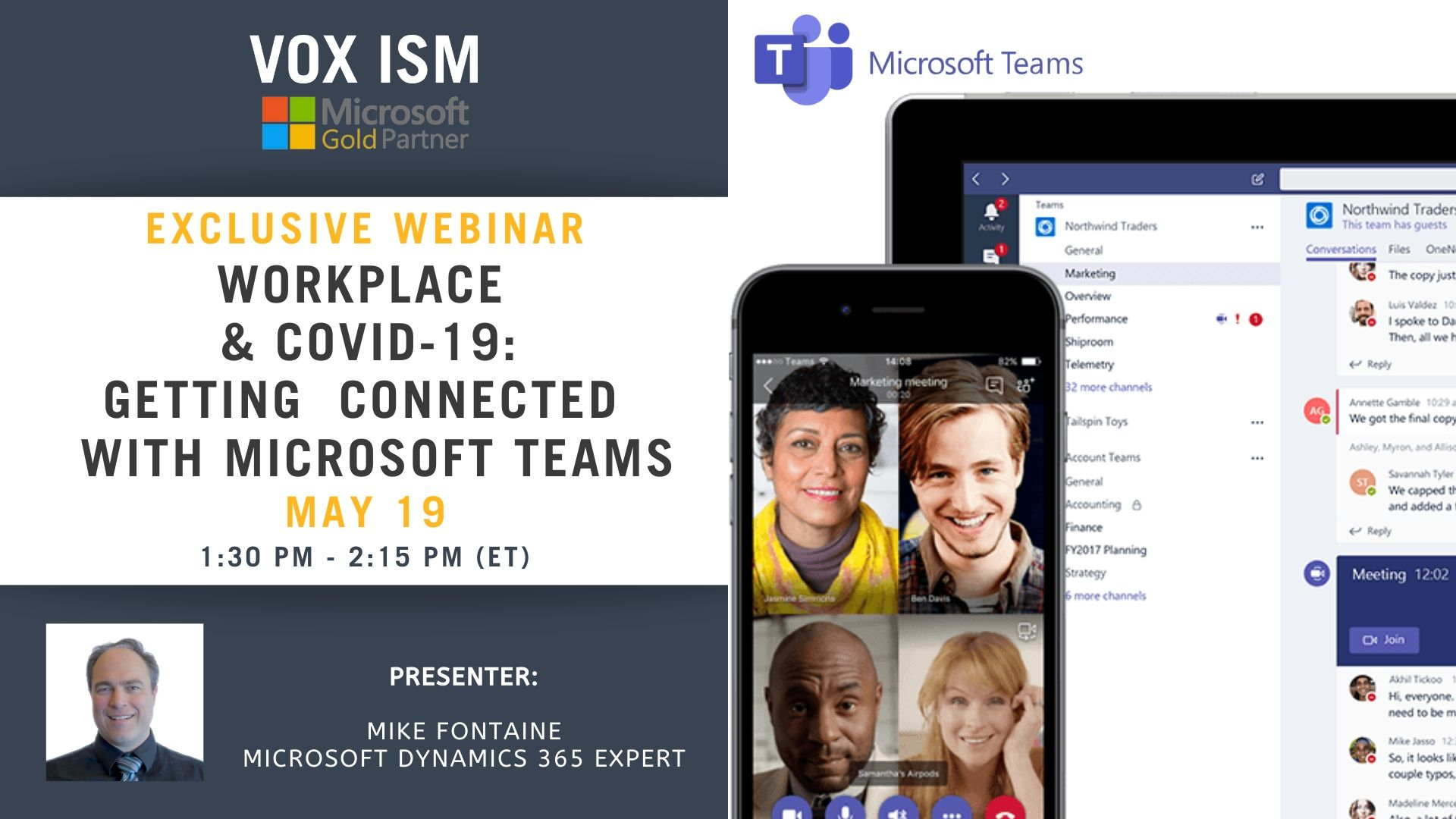 Workplace & COVID-19 - Getting Connected with Microsoft Teams - May 19 - Webinar VOX ISM