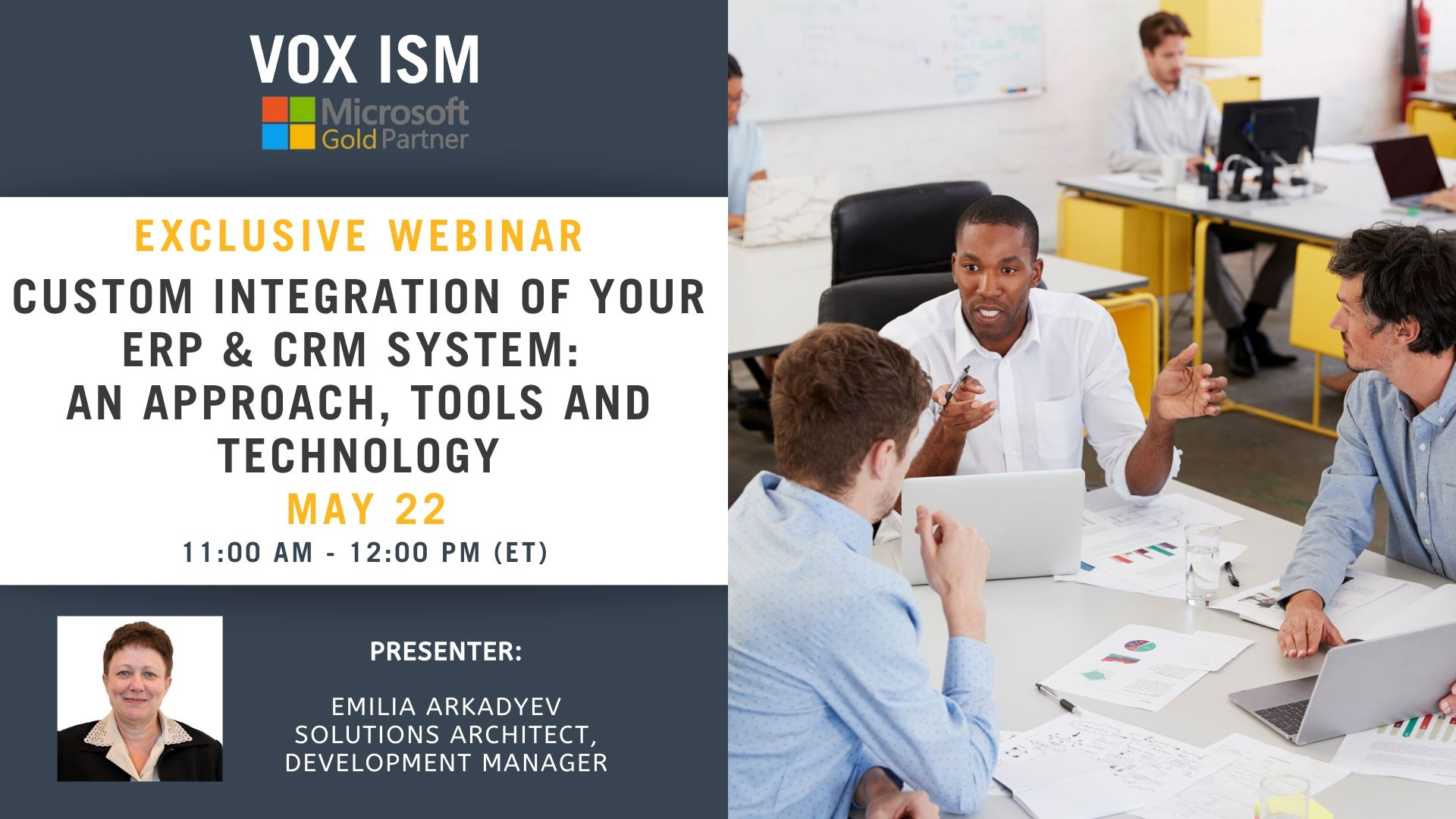 Custom Integration your ERP & CRM system: An Approach, Tools and Technology - May 22 - Webinar