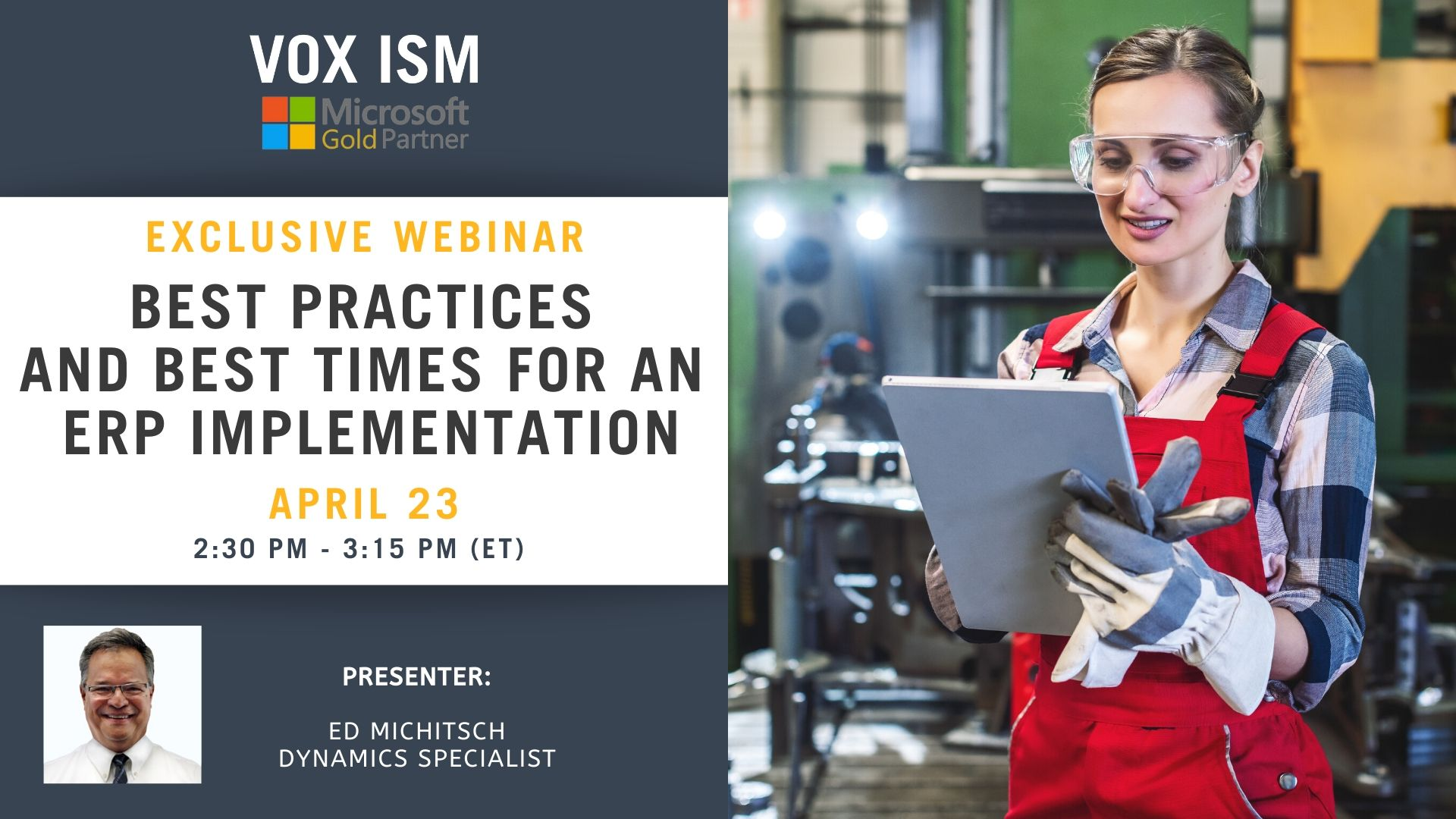 Best Practices and Best Times for an ERP Implementation - April 23 - Webinar_VOX ISM