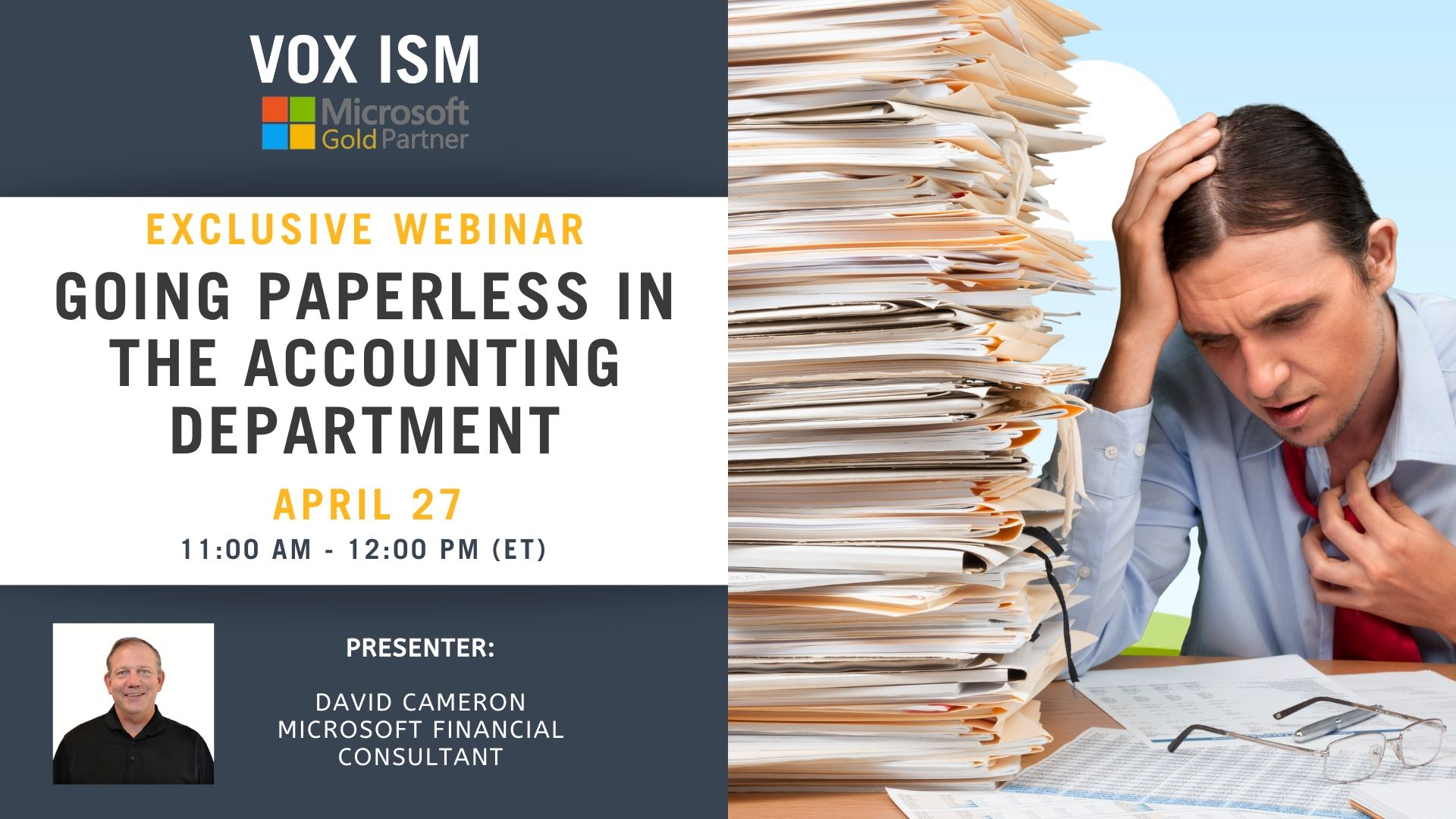 Going Paperless in the Accounting Department - April 27 - Webinar