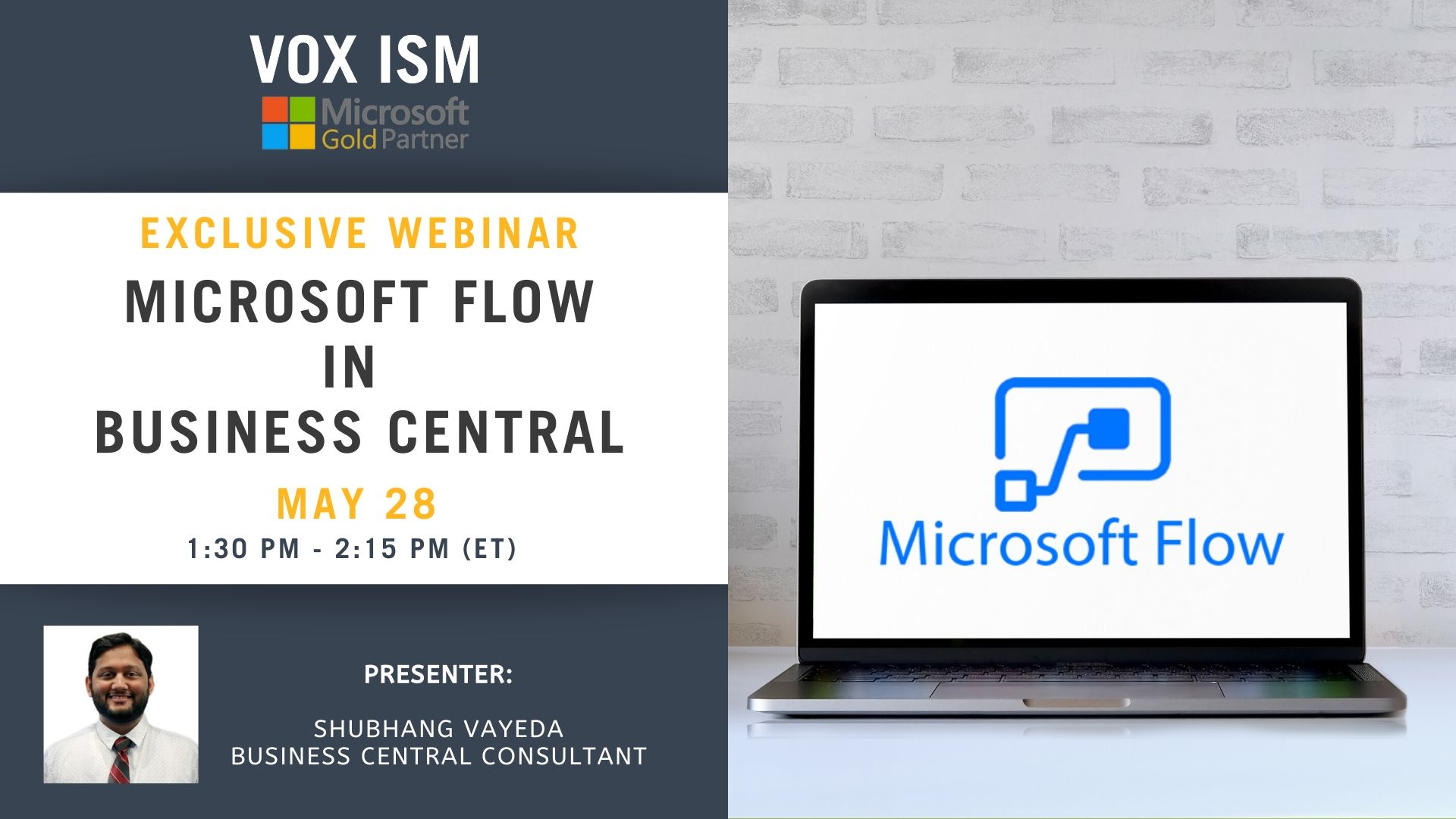 Microsoft Flow in Business Central - May 28 - Webinar VOX ISM
