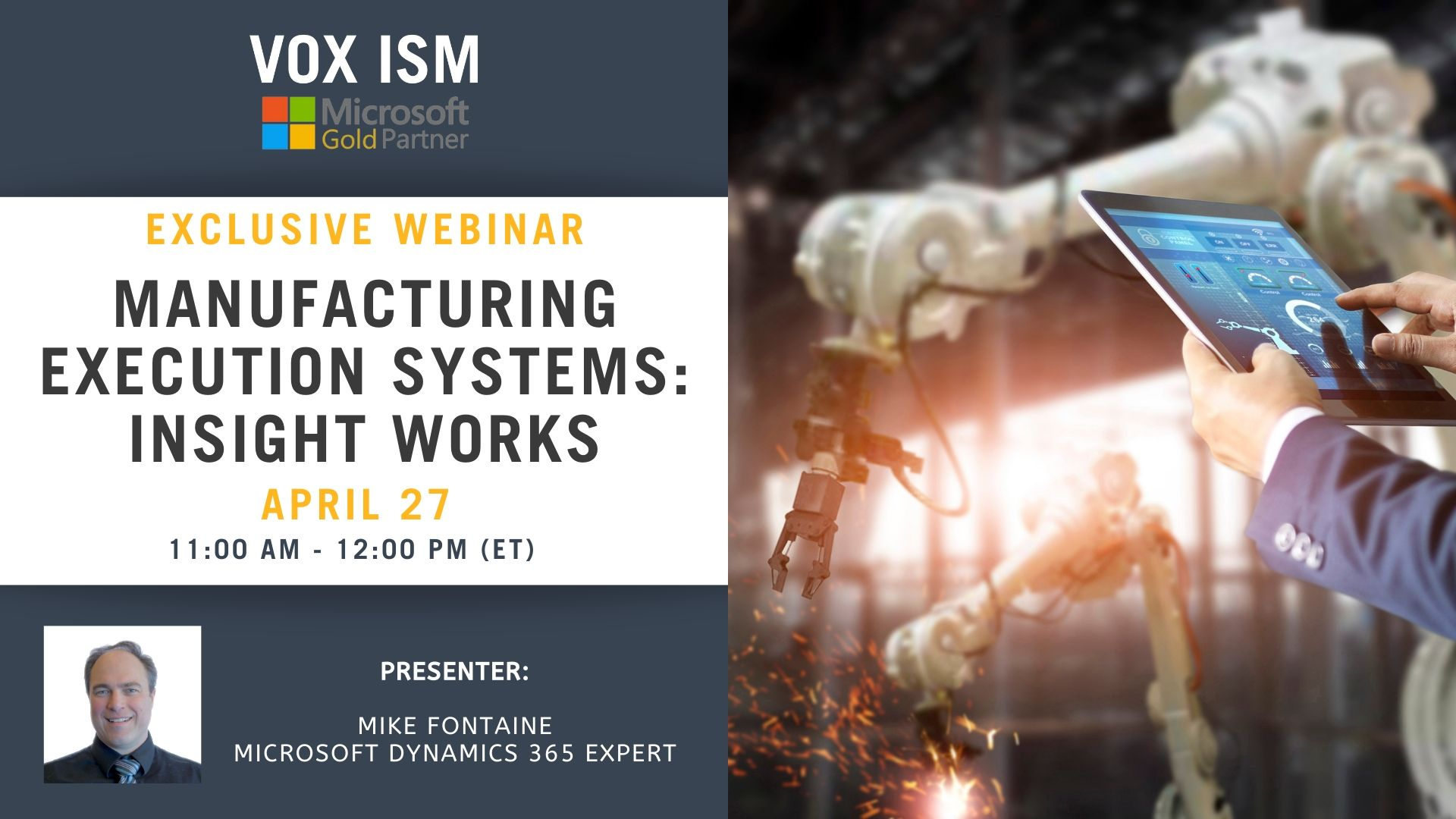 Manufacturing Execution Systems: Insight Works - April 28 - Webinar