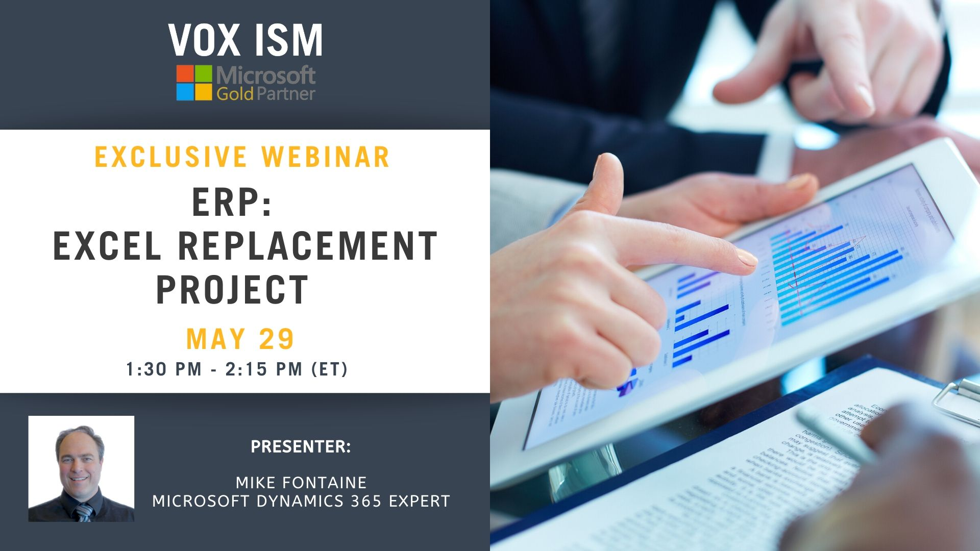 ERP: Excel Replacement Project - May 29 - Webinar VOX ISM