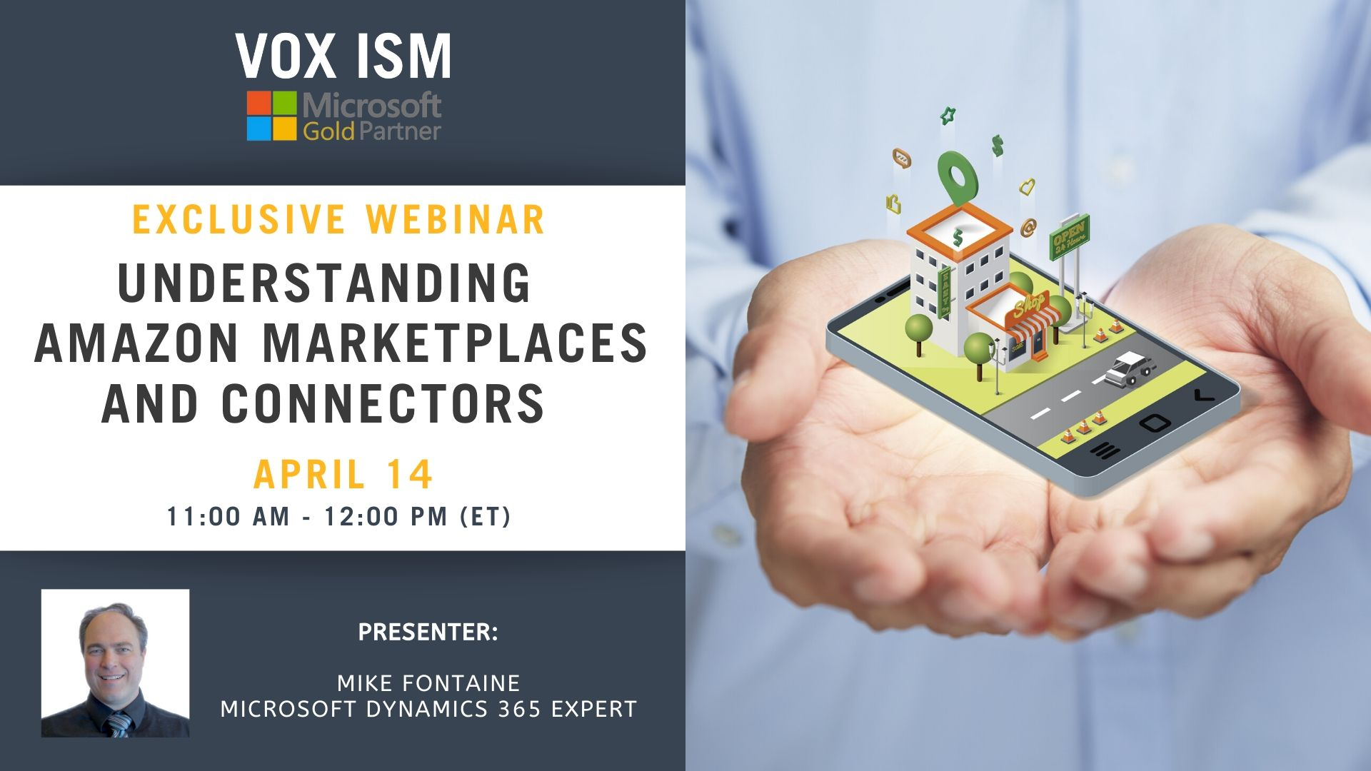 Understanding Amazon Marketplaces and Connectors - April 14 - Webinar_VOX ISM