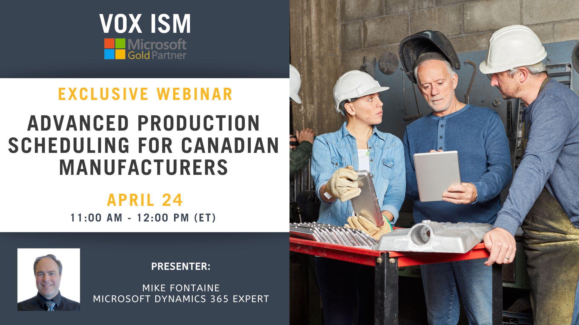 Advanced Production Scheduling for Canadian Manufacturers - April 24 - Webinar_VOX ISM