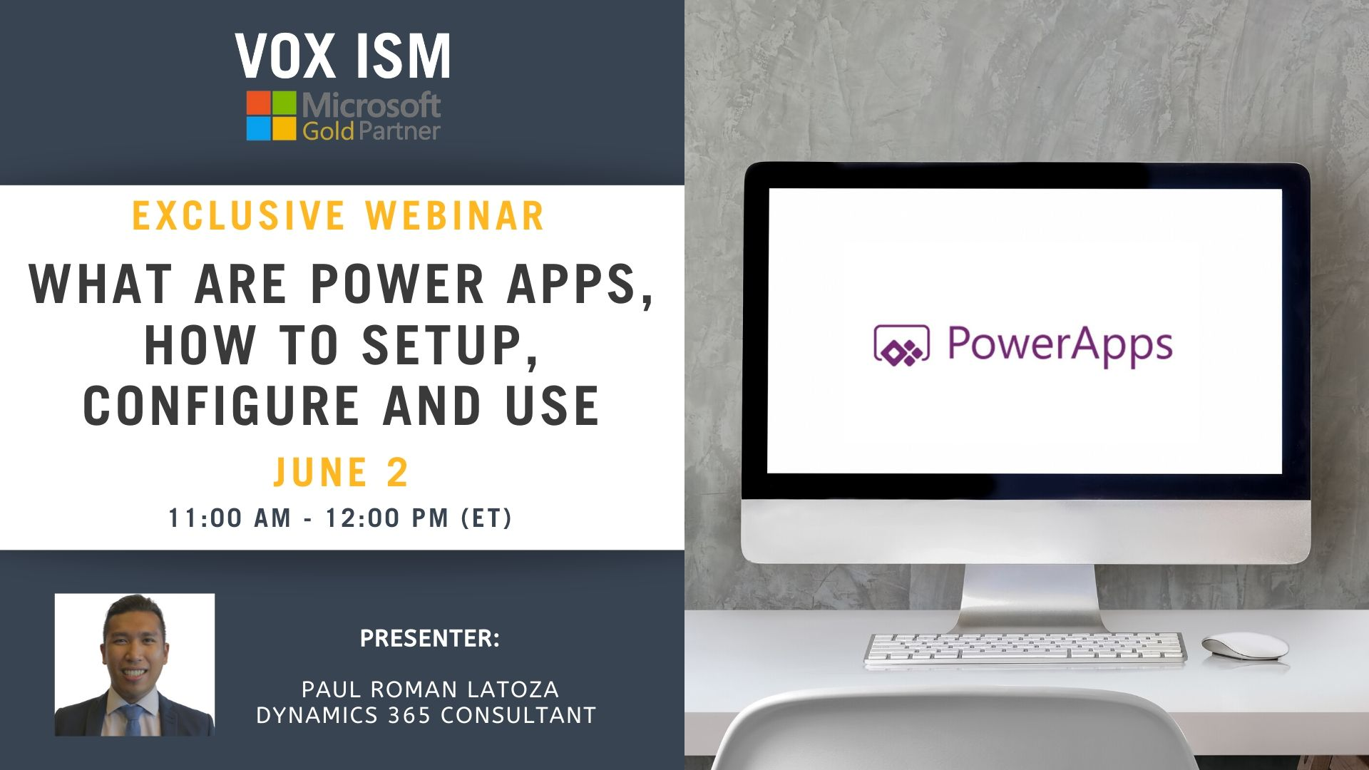 What are Power Apps, how to setup, configure and use - June 2 - Webinar VOX ISM