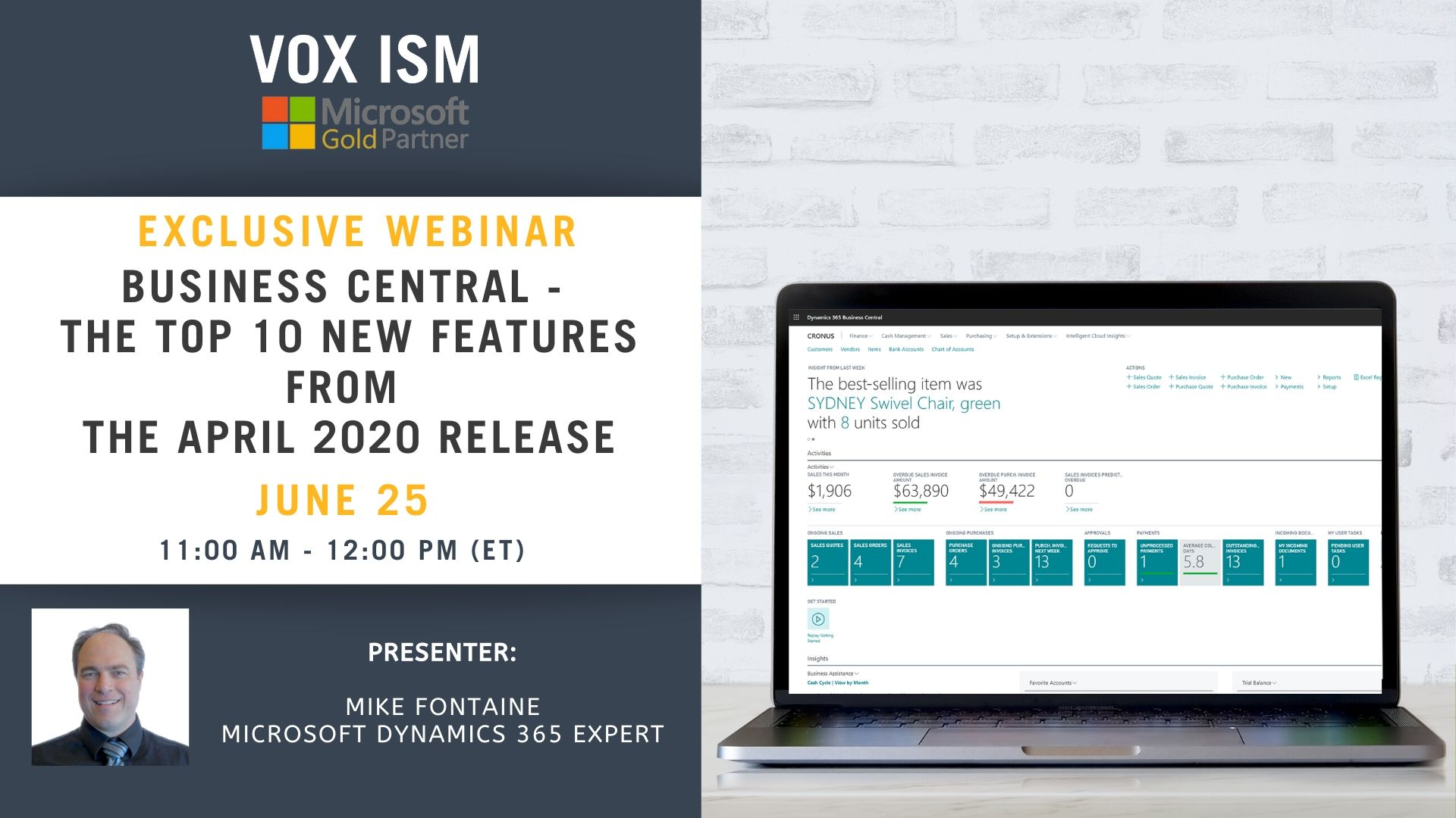 Business Central - The Top 10 New Features From The April 2020 Release - June 25 - Webinar VOX ISM