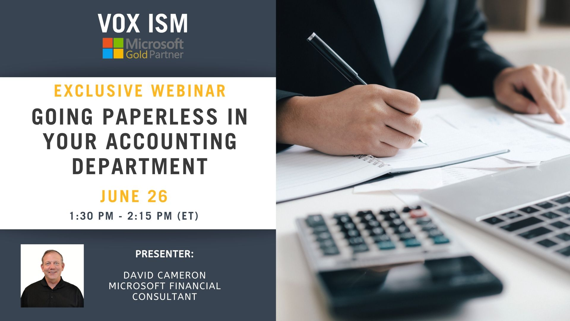 Going Paperless in your accounting Department - June 26 - Webinar