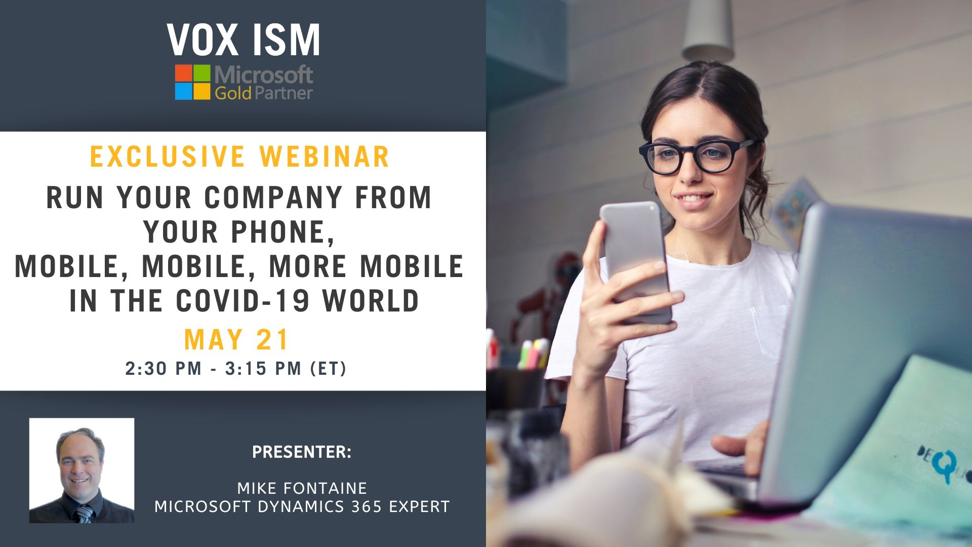 Run your company from your phone, mobile, mobile, more mobile in the COVID-19 world - May 21 - Webinar