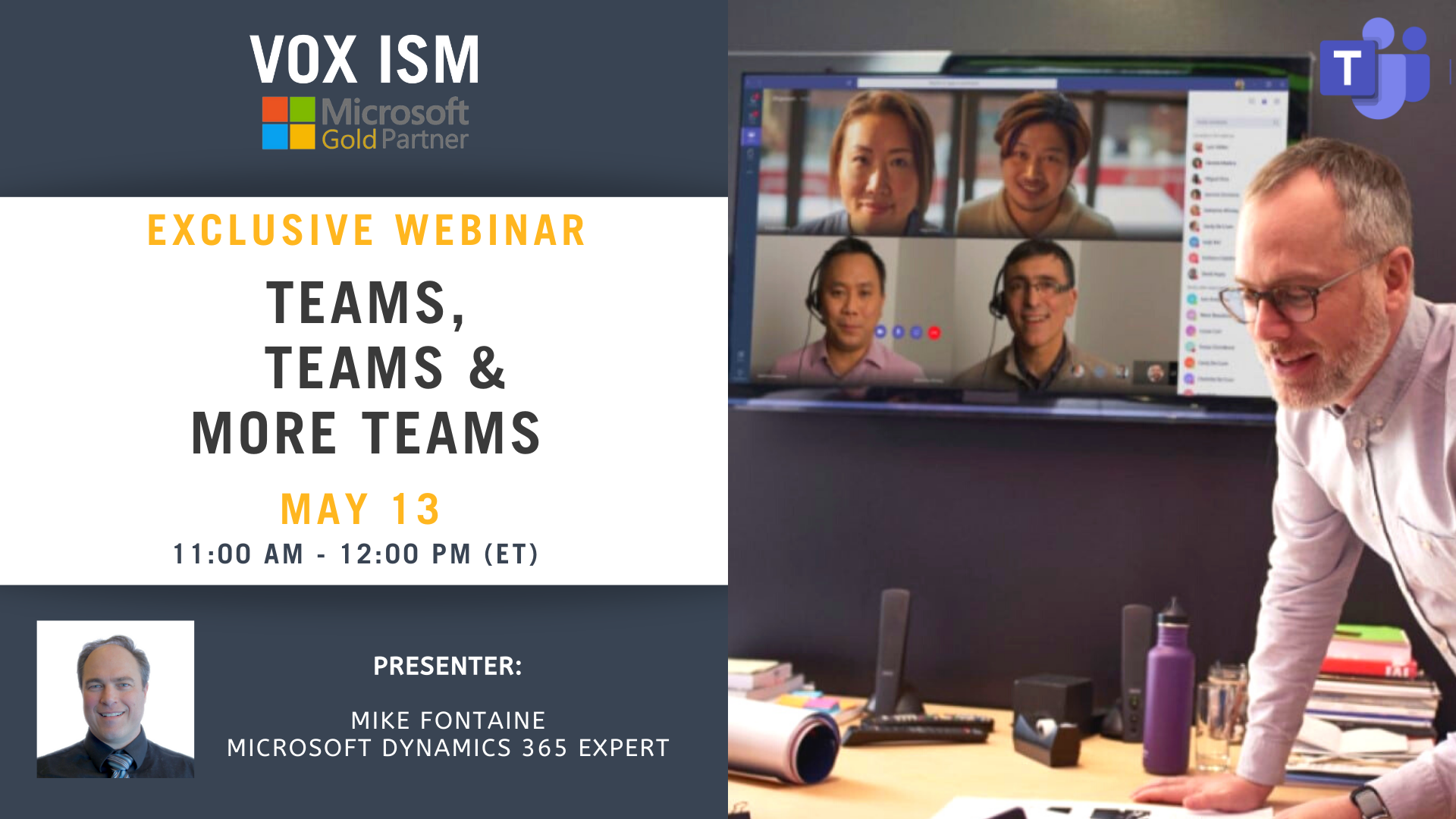 Teams, Teams, and more Teams - May 13 - Webinar VOX ISM