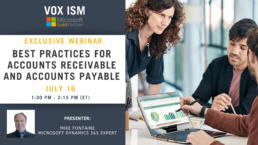 Best Practices for Accounts Receivable and Accounts Payable - July 16 - Webinar VOX ISM