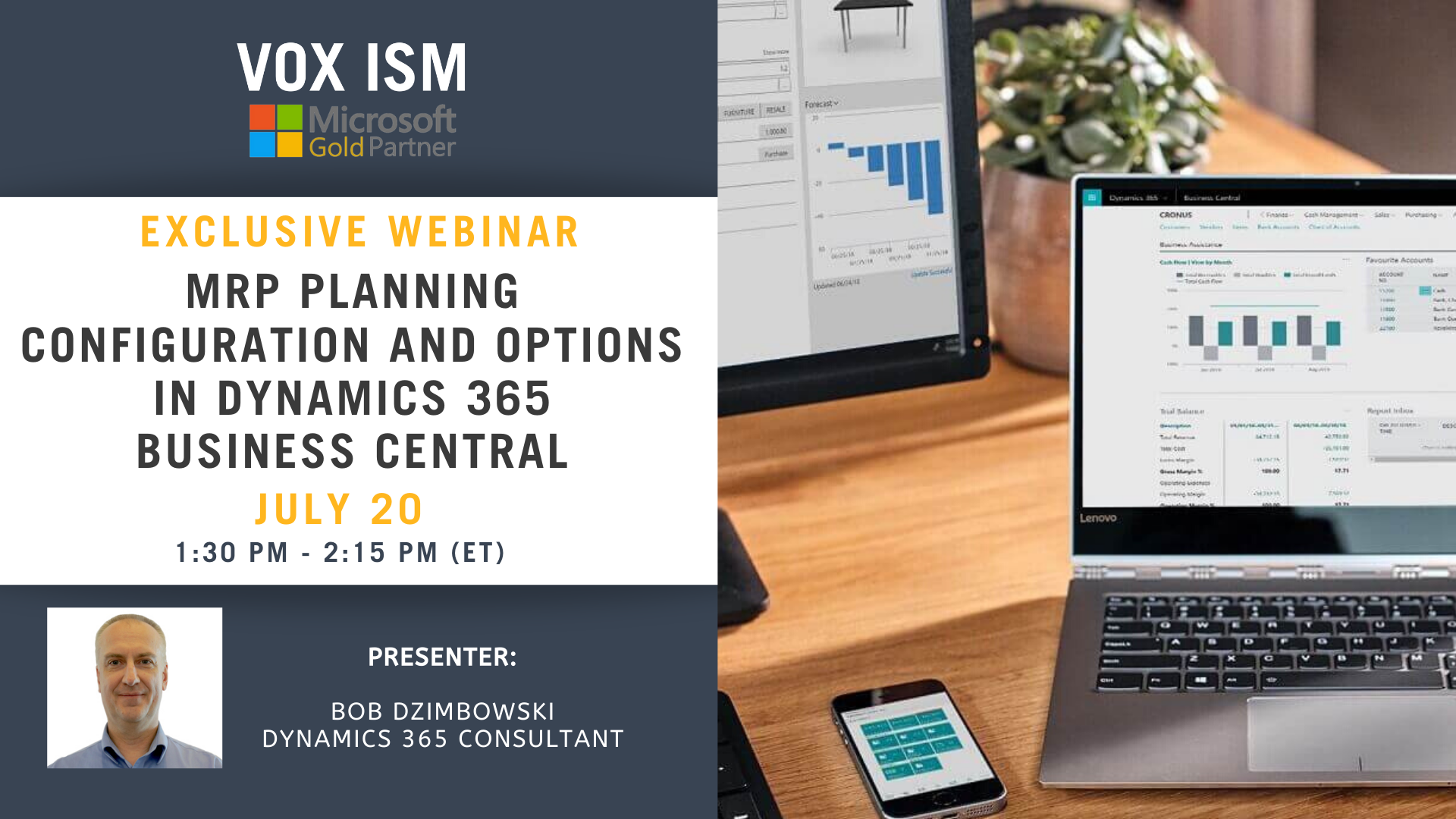 MRP Planning Configuration and Options in Business Central - July 20 - Webinar VOX ISM