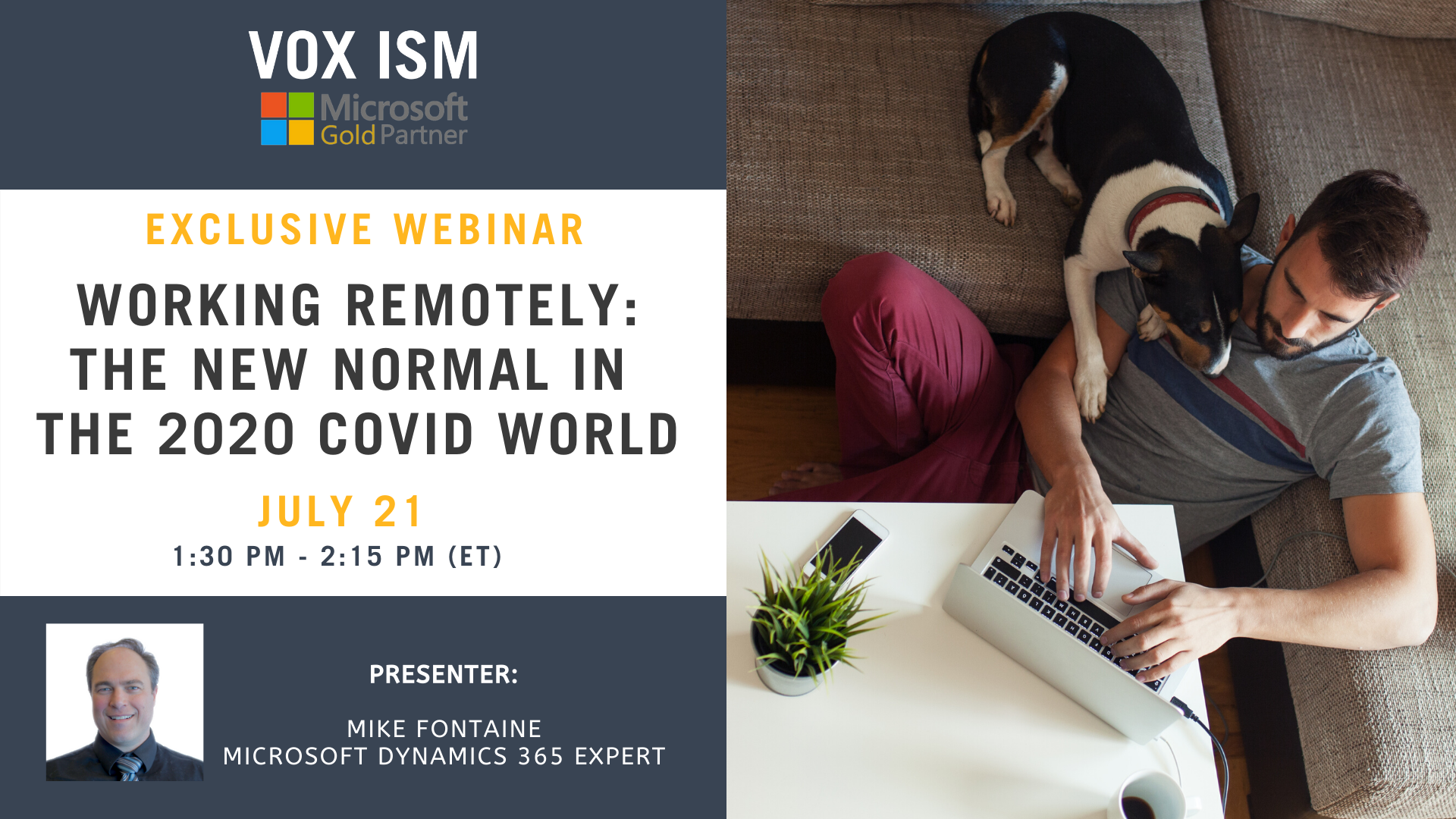 Working Remotely: The New Normal in The 2020 COVID-19 World - July 21 - Webinar VOX ISM