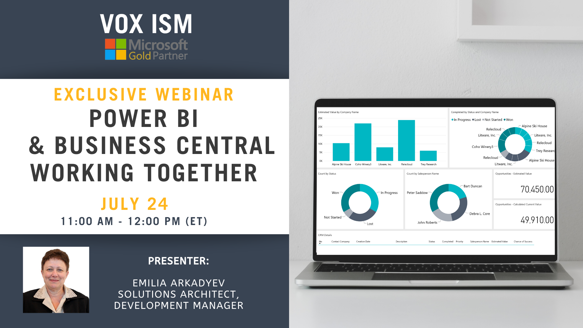 Power BI and Business Central Working Together - July 24 - Webinar VOX ISM