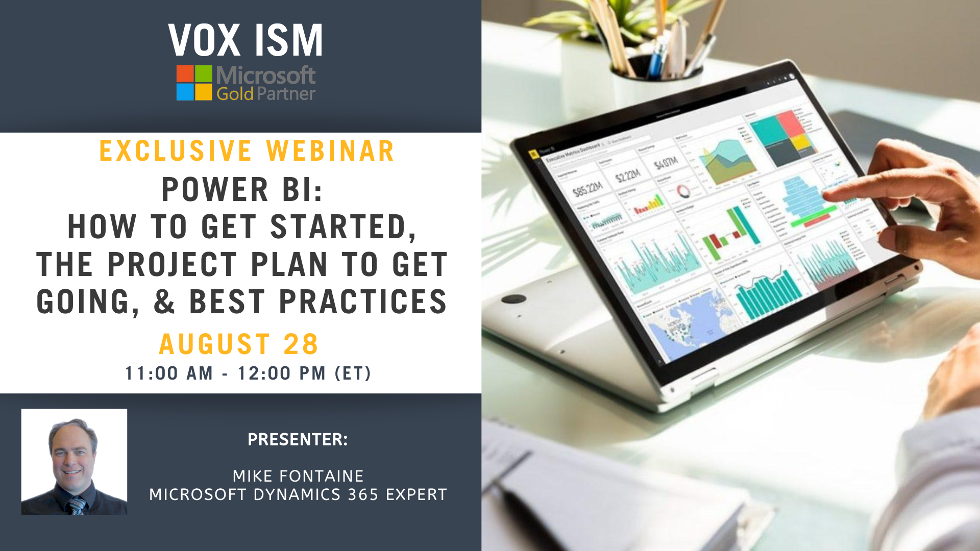 Power BI - How to Get Started, The Project Plan to Get Going, & Best Practices - August 27 - Webinar