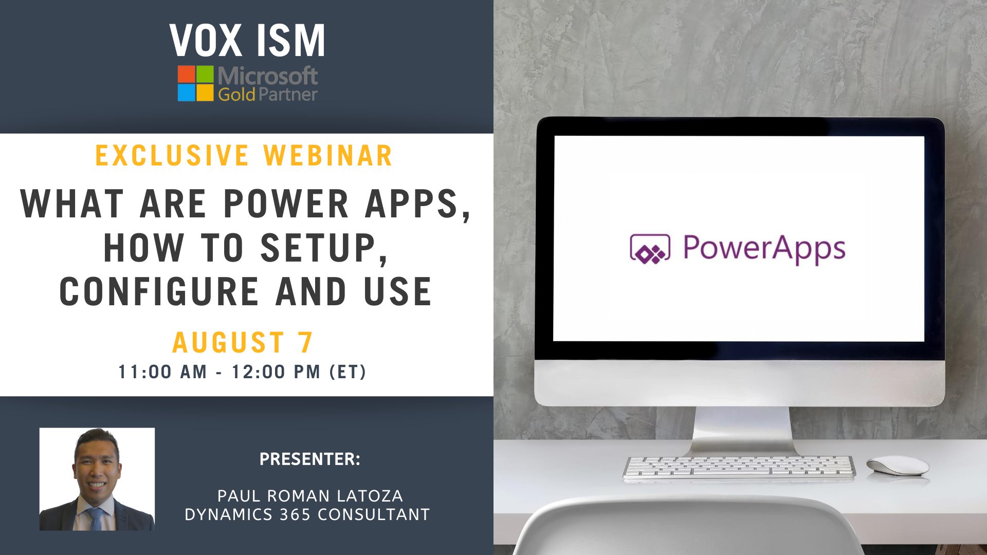 What are Power Apps, how to setup, configure and use – August 7 – Webinar