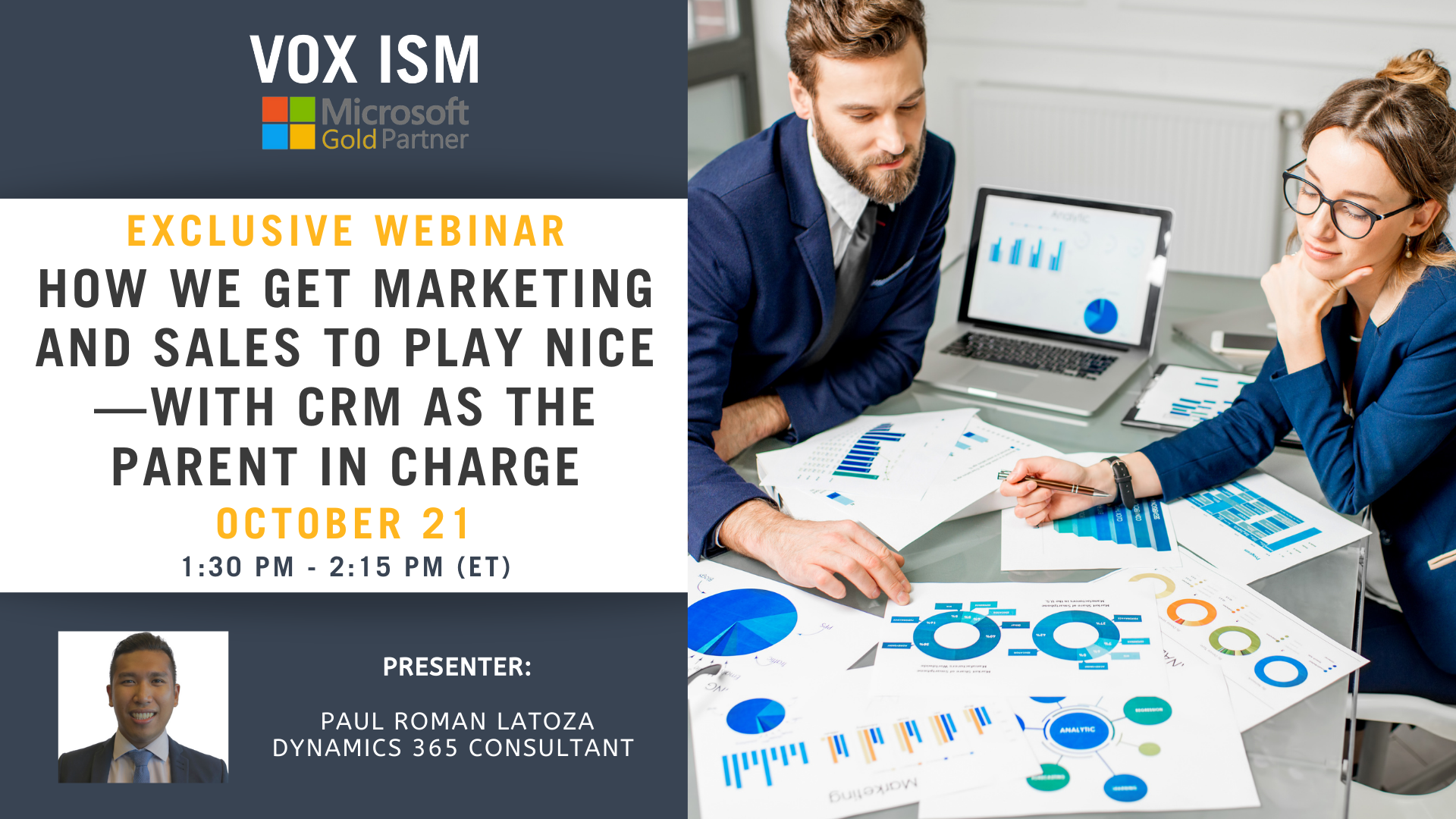 How We Get Marketing and Sales to Play Nice—with CRM as the Parent in Charge - October 21– Webinar