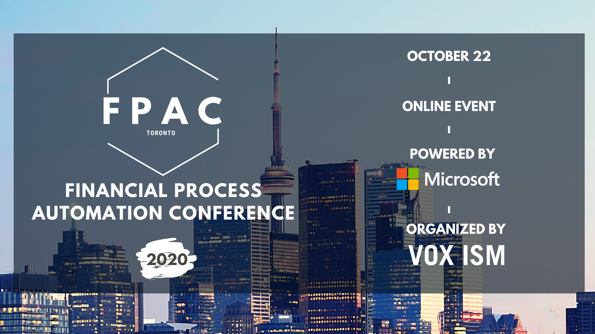 FPAC Fall 2020: Financial Process Automation Conference - October 22 - Online Event