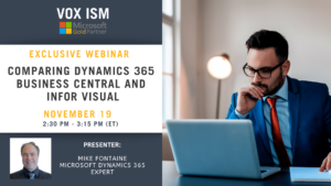 Comparing Dynamics 365 Business Central and Infor Visual - November 19 - Webinar