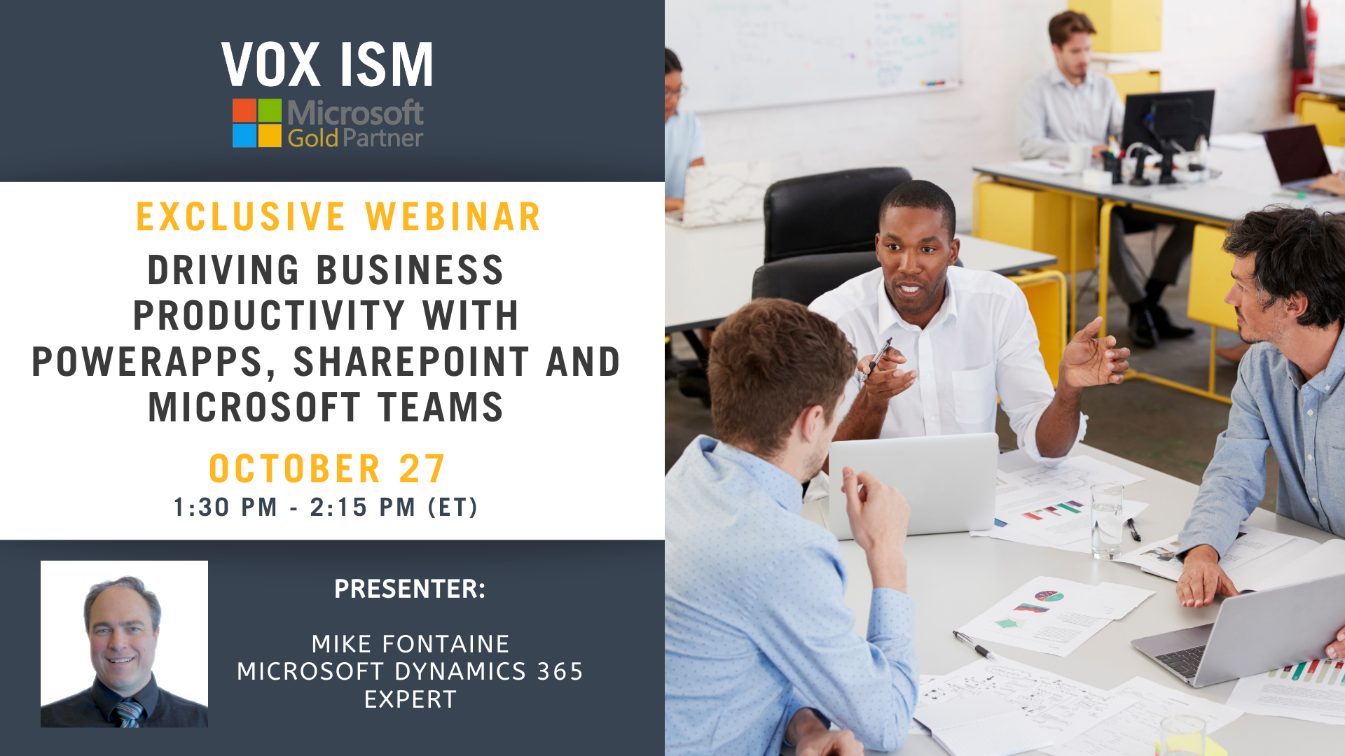 Driving business productivity with PowerApps, Microsoft Teams and SharePoint - October 27 - Webinar