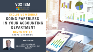 Going paperless in your accounting department - November 26 - Webinar