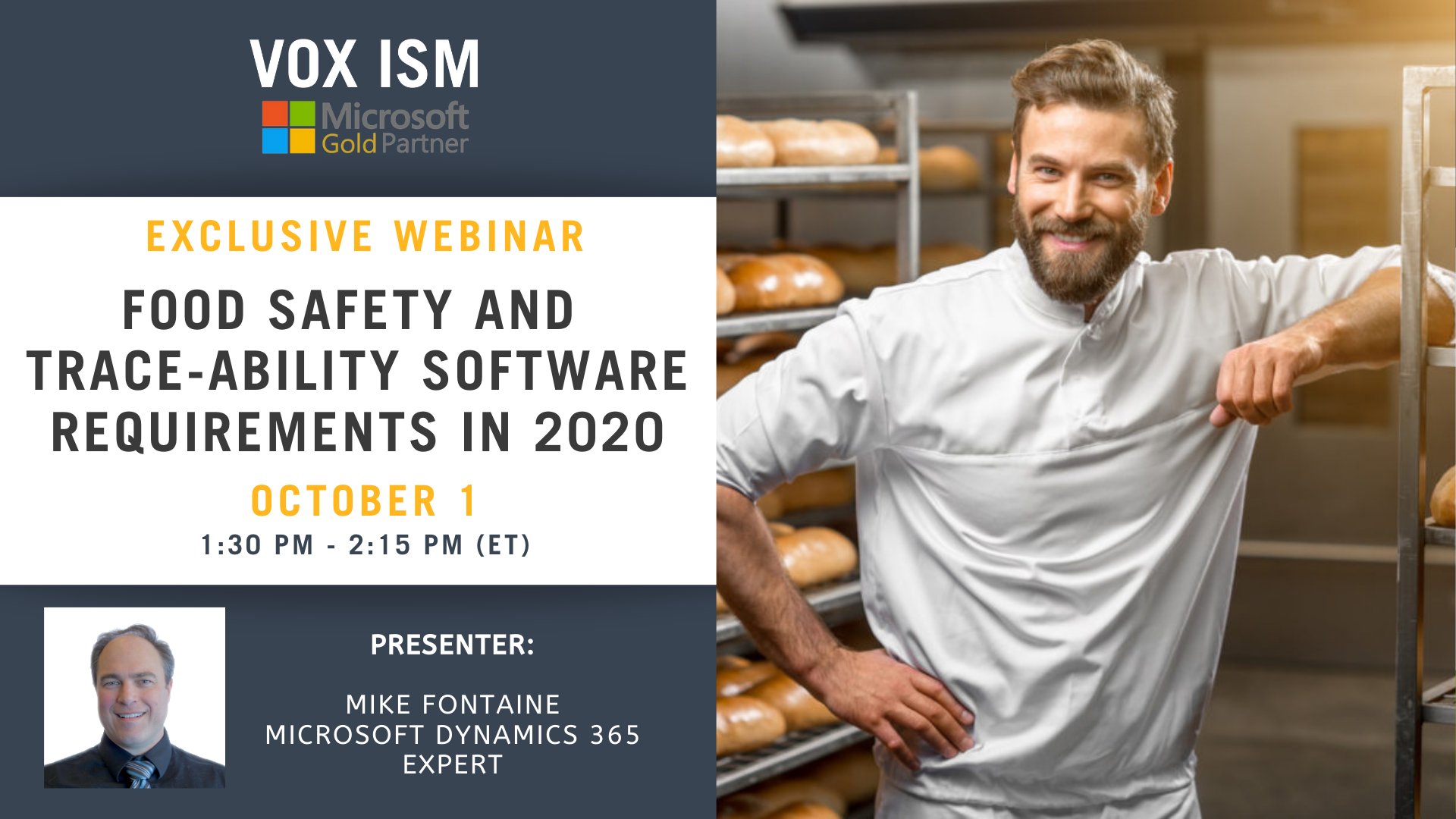 Food Safety and Trace-ability Software Requirements in the world of COVID-19 - October 1 – Webinar