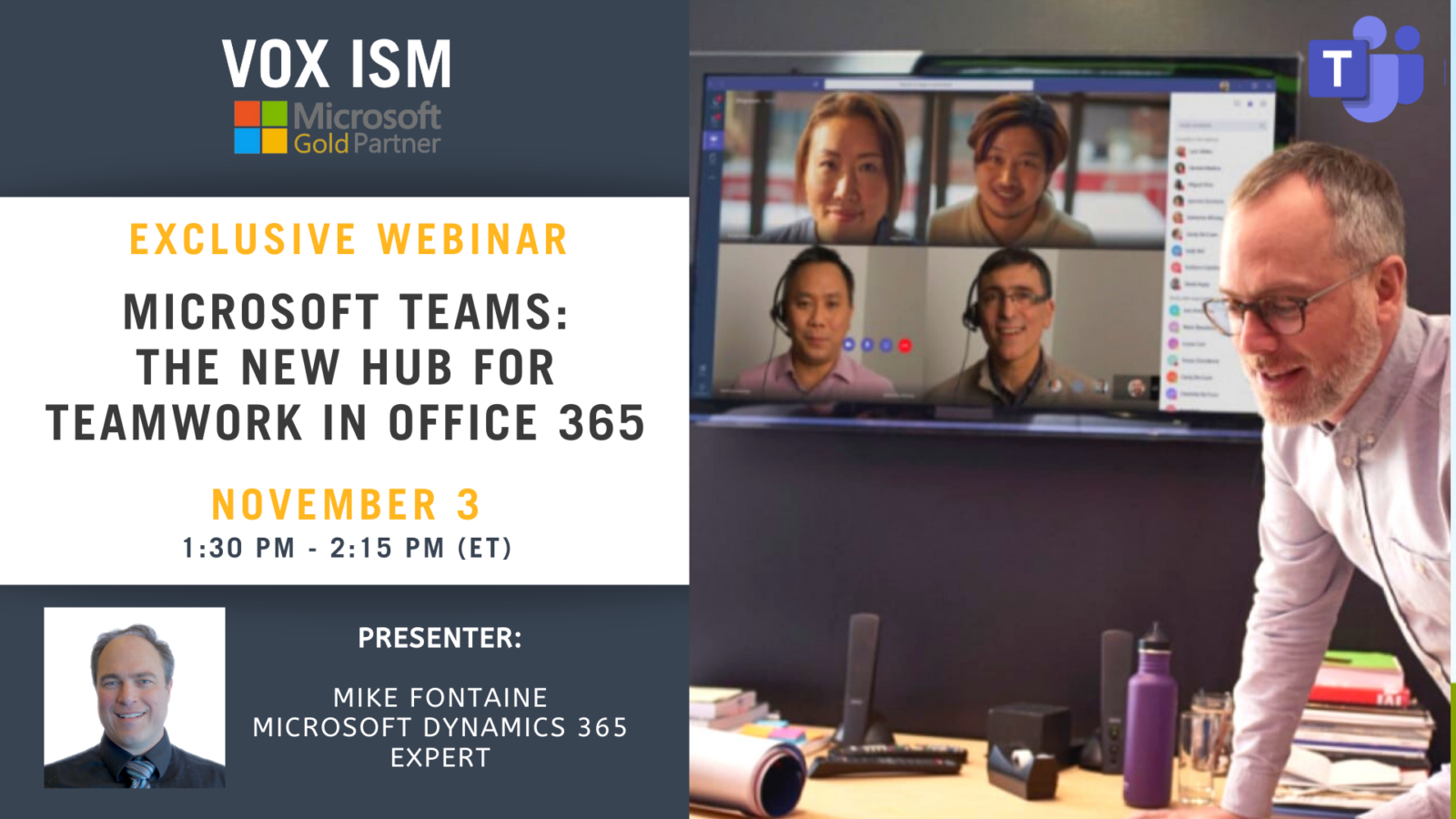 Microsoft Teams - The New Hub for Teamwork in Office 365 - November 3 - Webinar
