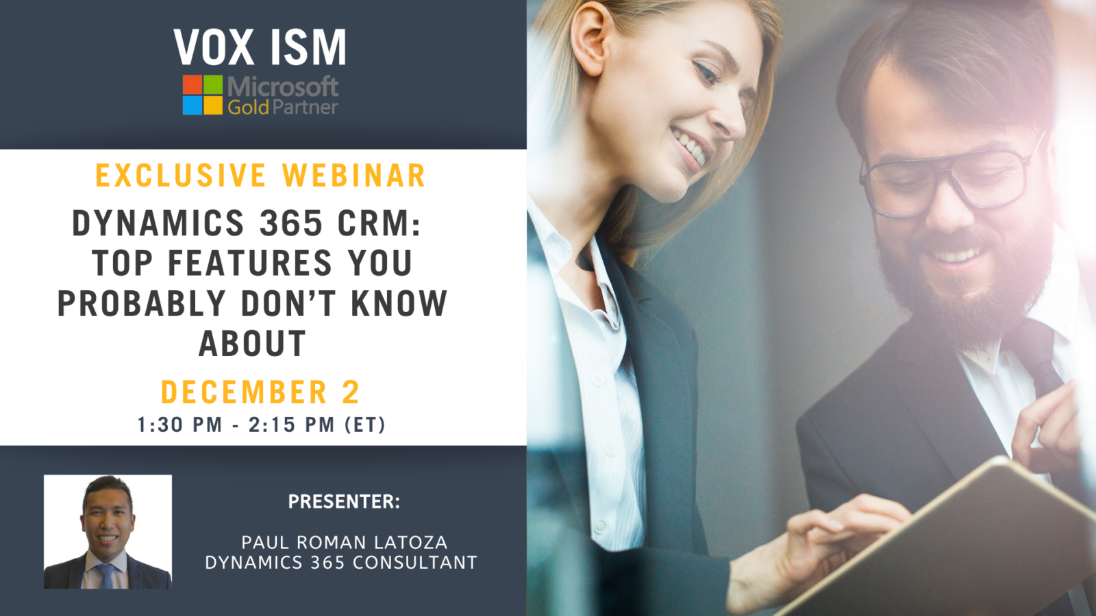 Dynamics 365 CRM: Top features you probably don't know about - December 2 - Webinar