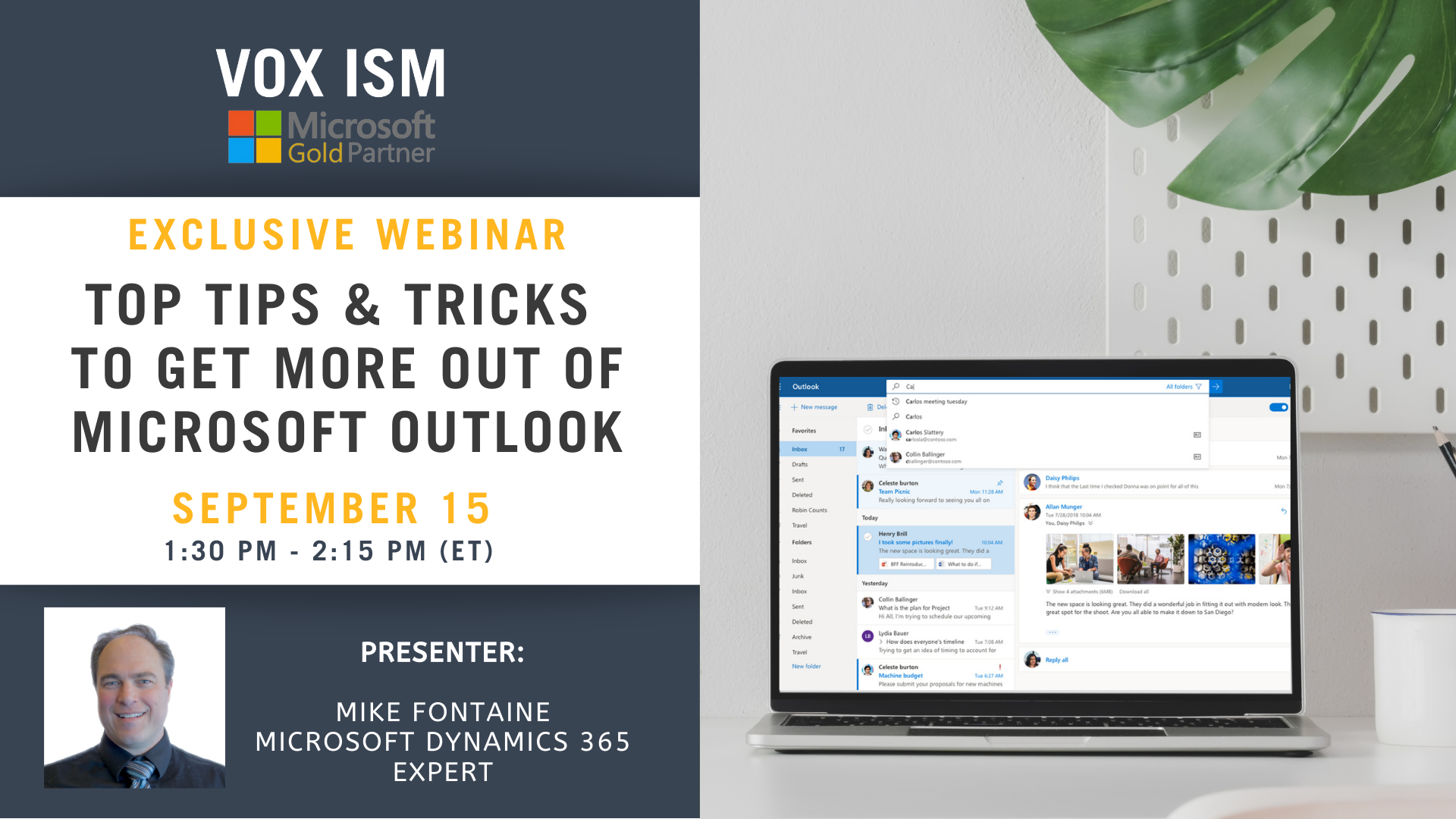 Top Tips & Tricks to Get More Out of Microsoft Outlook - September 15 - Webinar