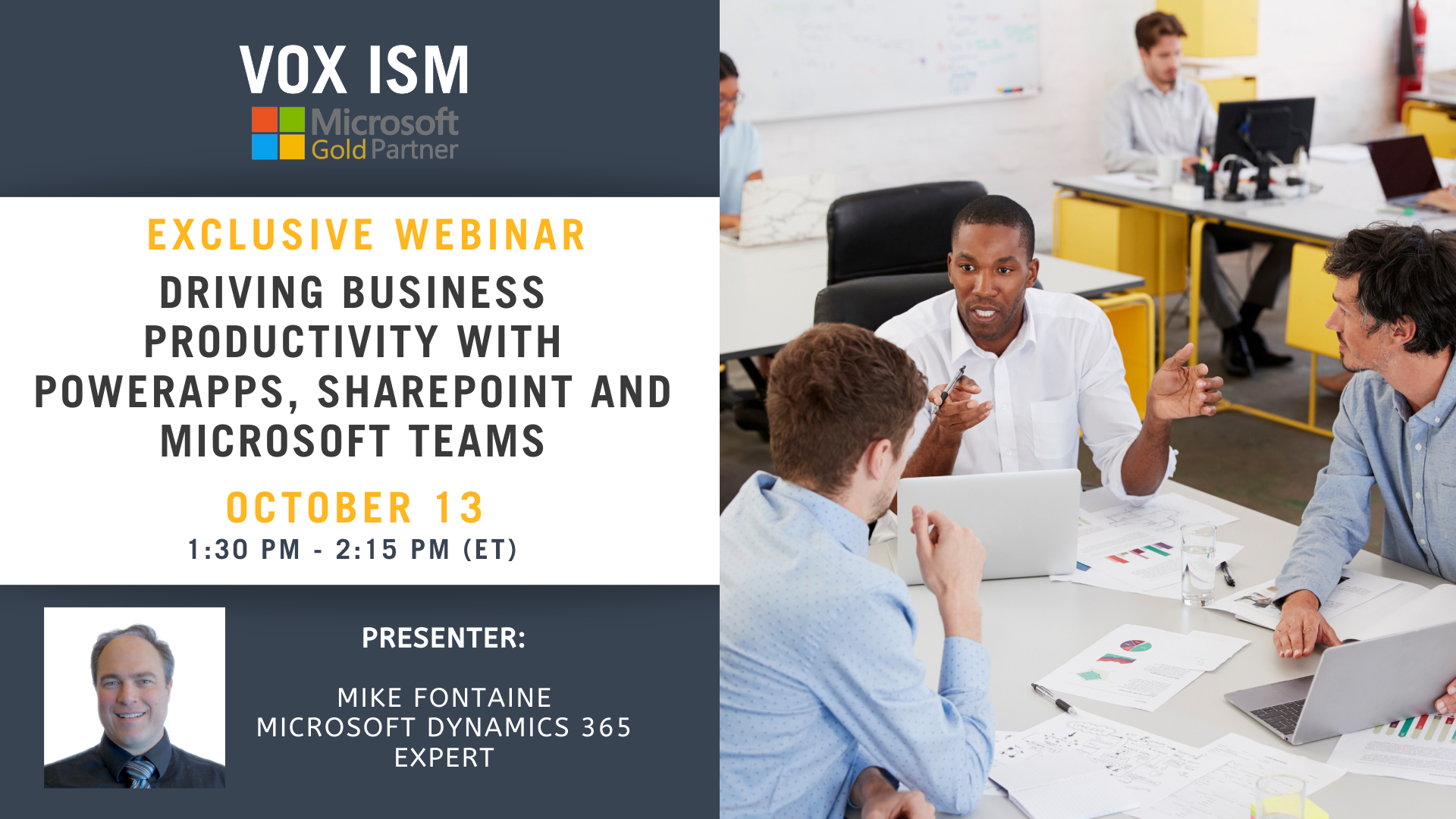 Driving business productivity with PowerApps, Microsoft Teams and SharePoint - October 13 – Webinar