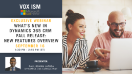 What's New in Dynamics 365 CRM Fall Release - New Features Overview - September 16 - Webinar