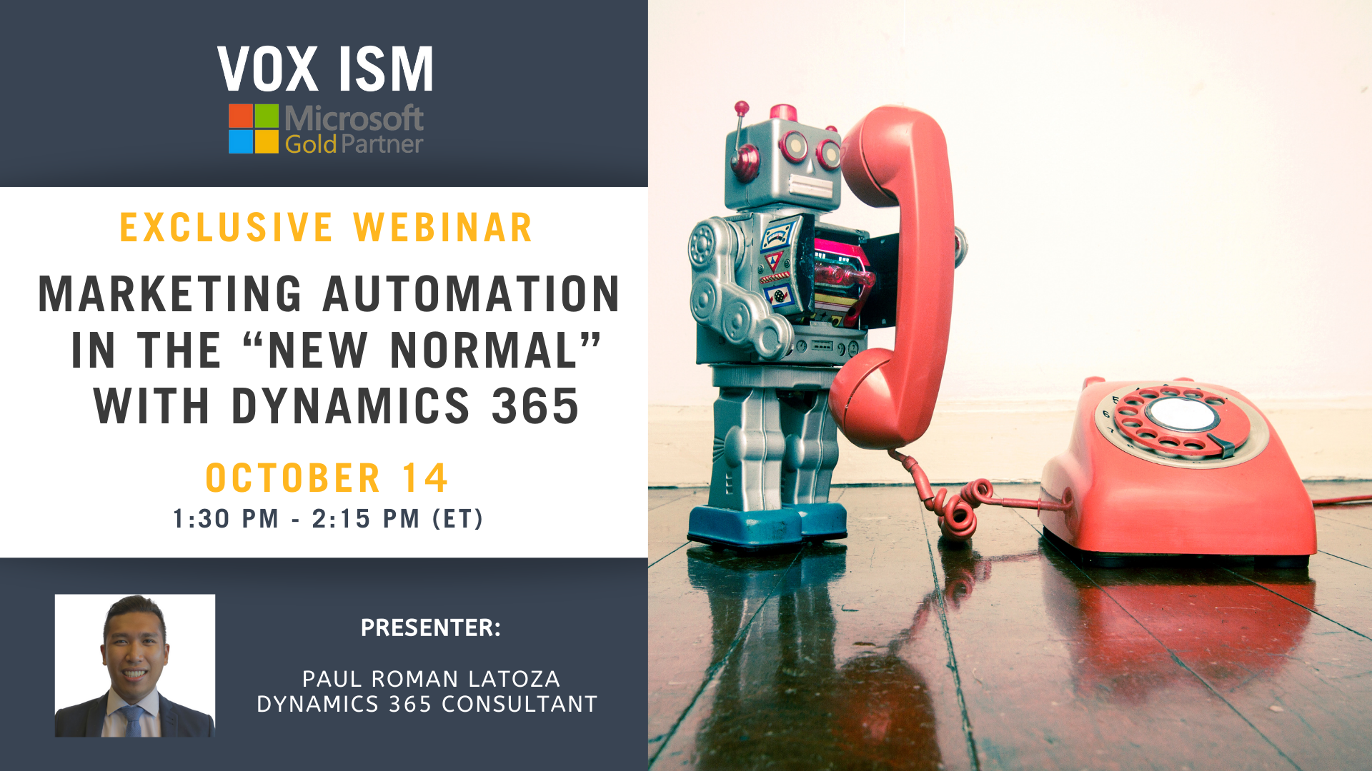 """Marketing Automation in the """"New Normal"""" with Dynamics 365 - October 14 – Webinar"""