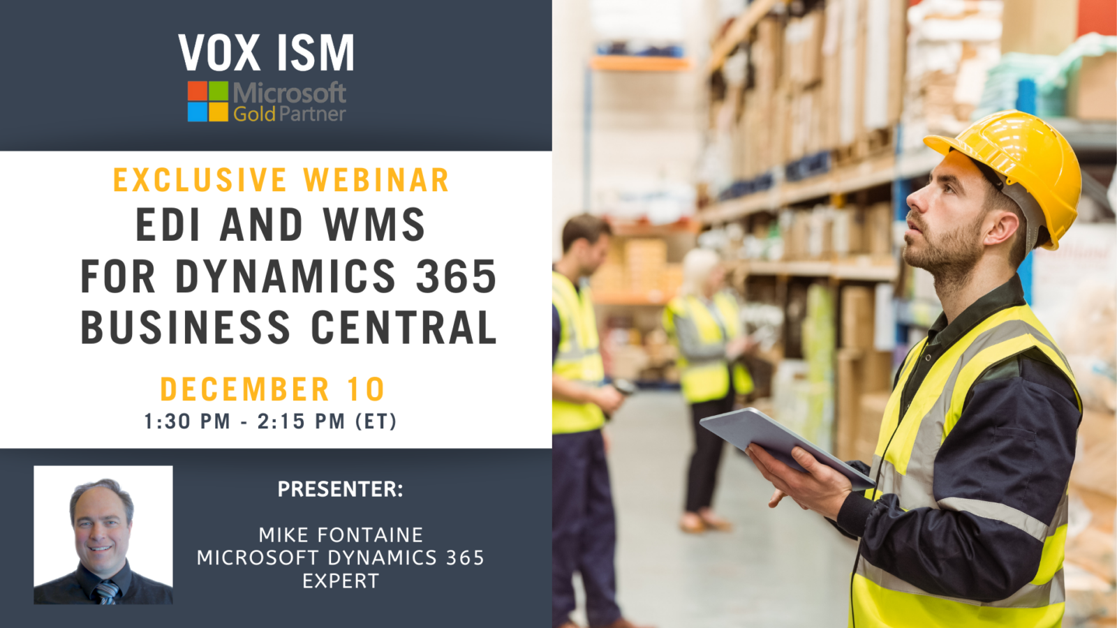 EDI and WMS for Dynamics 365 Business Central - December 10 - Webinar