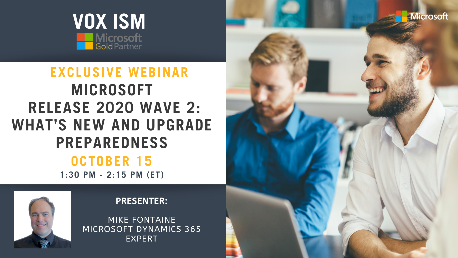Microsoft Release 2020 Wave 2 | What's New and Upgrade Preparedness - October 15 – Webinar
