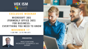 ​Microsoft 365 (formerly Office 365) for business: Everything you need to know - November 17 - Webinar