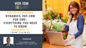 Dynamics 365 CRM for SME: Everything You Need to Know - November 18 - Webinar