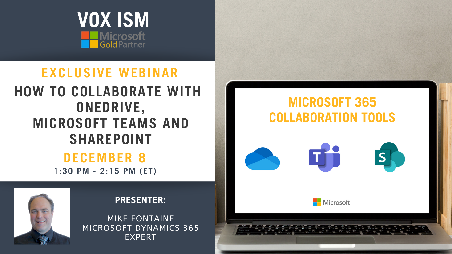 How to Collaborate with SharePoint, OneDrive, and Microsoft Teams - December 8 - Webinar